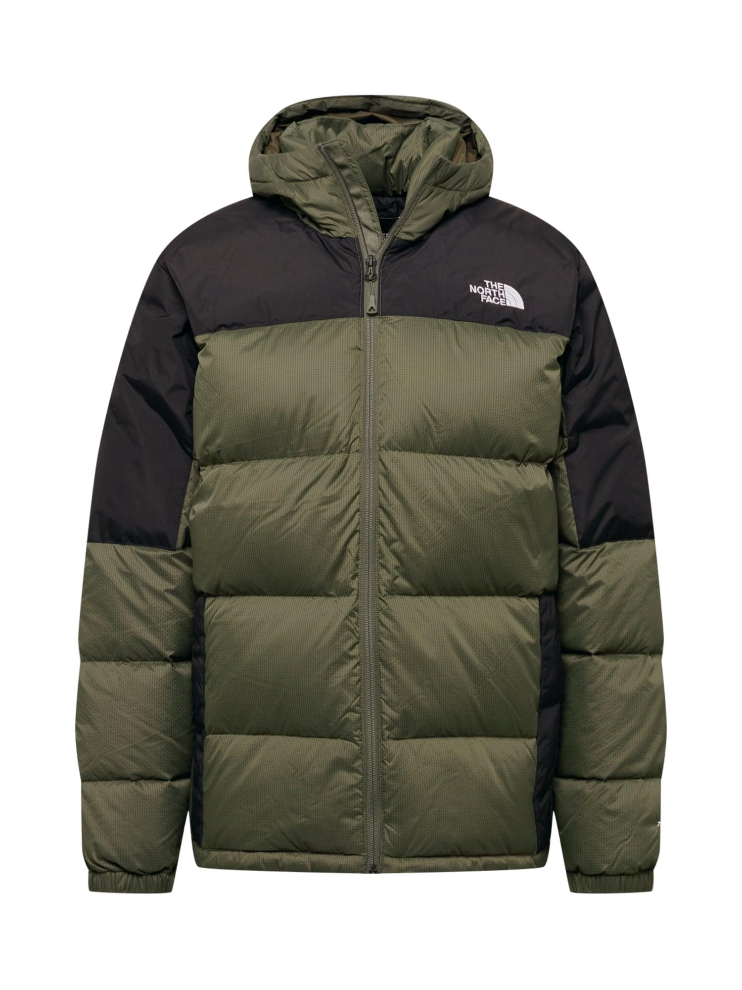 THE NORTH FACE Outdoorová bunda 'DIABLO'  tmavě zelená / černá