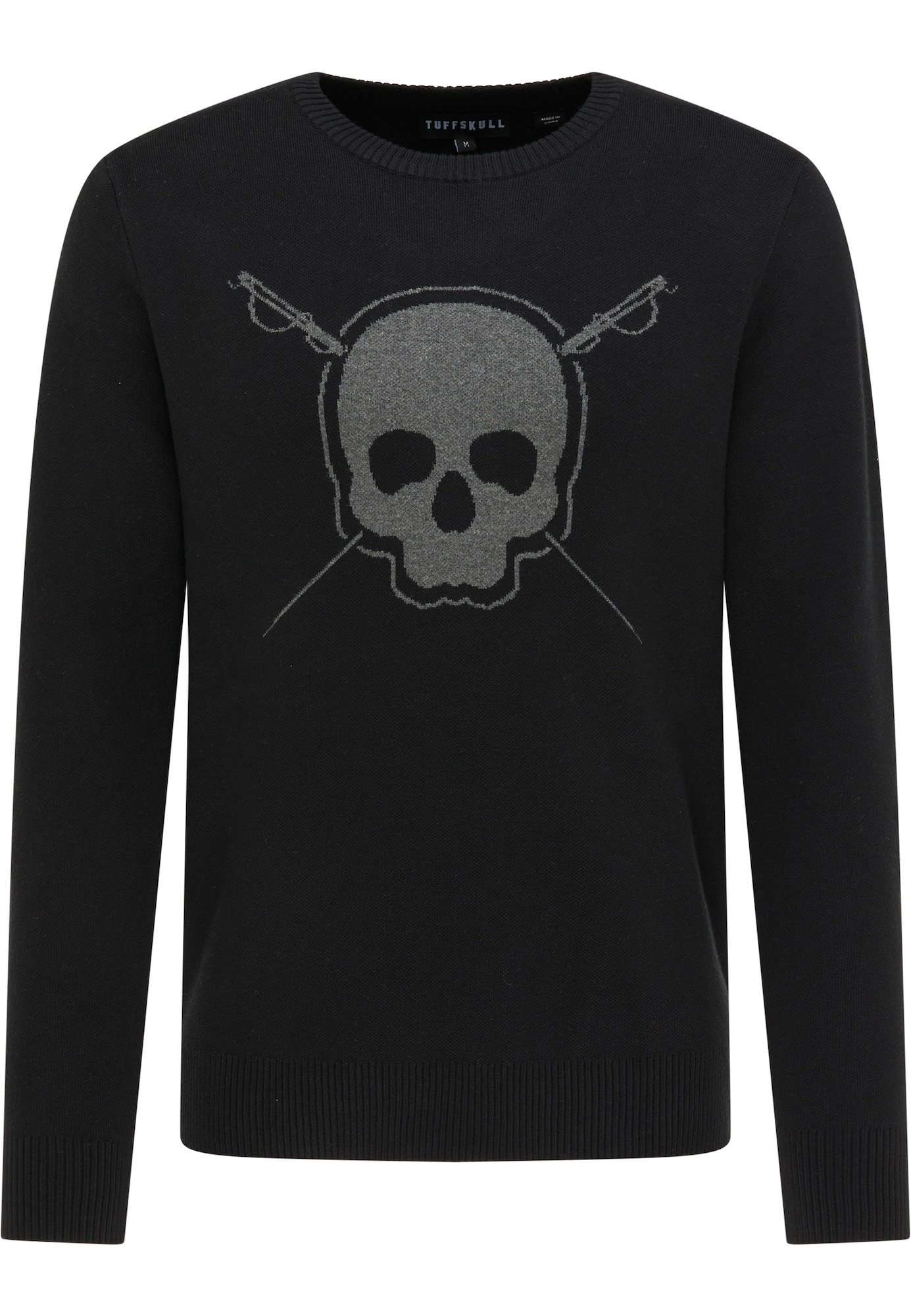 TUFFSKULL Megztinis juoda / tamsiai pilka