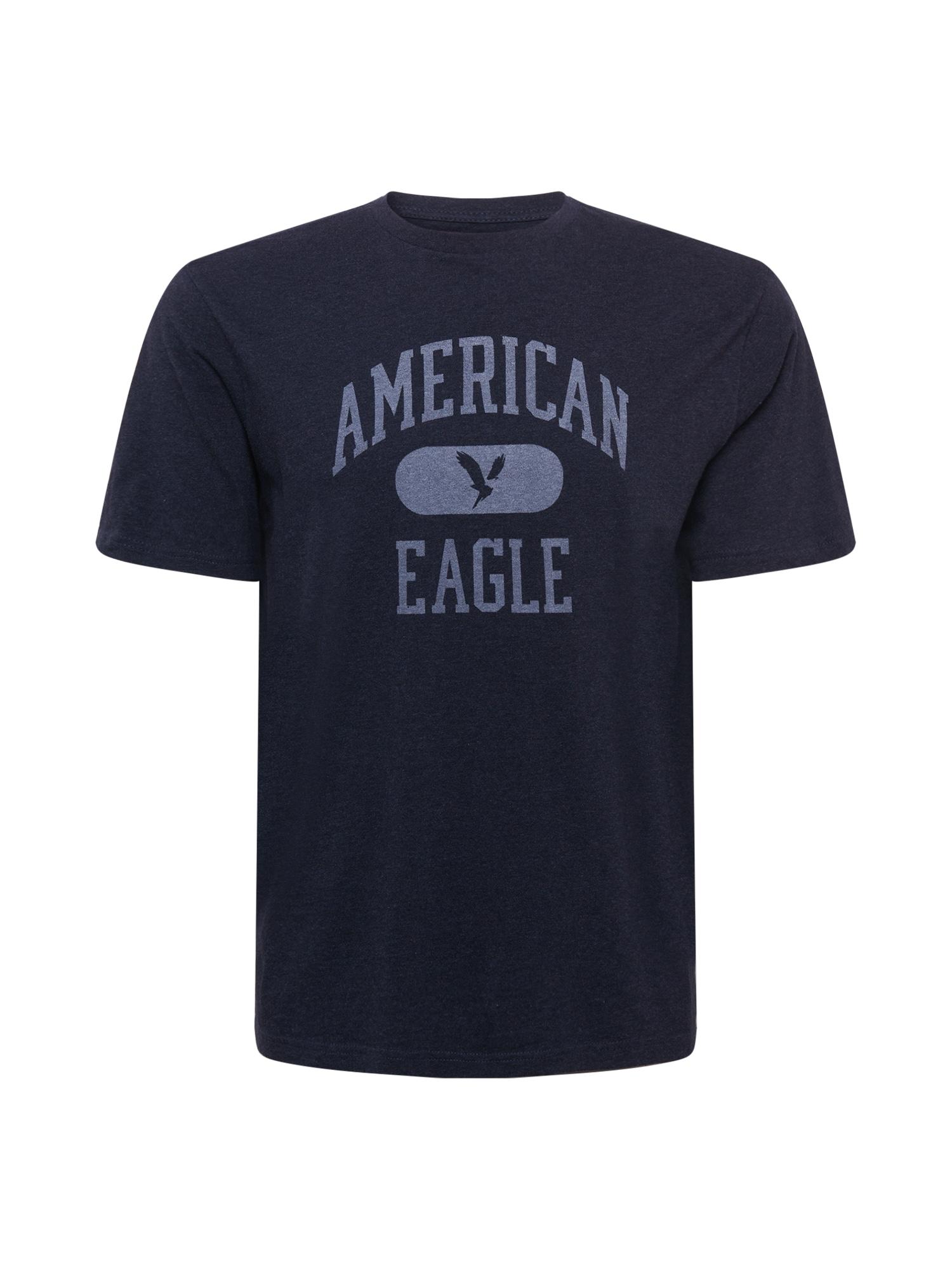 American Eagle Tričko  noční modrá / kouřově modrá