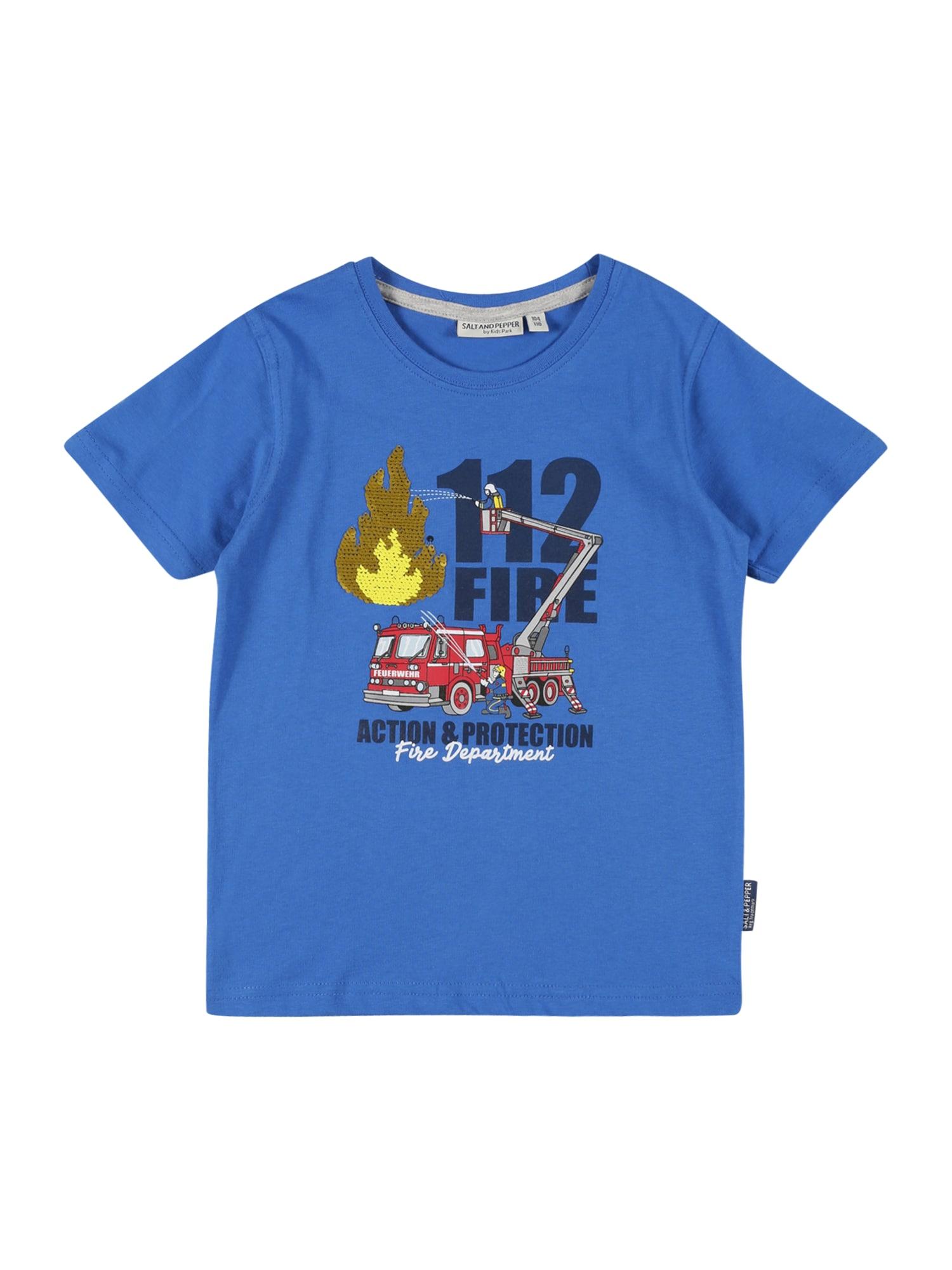 SALT AND PEPPER Marškinėliai mėlyna / tamsiai mėlyna / raudona / juoda