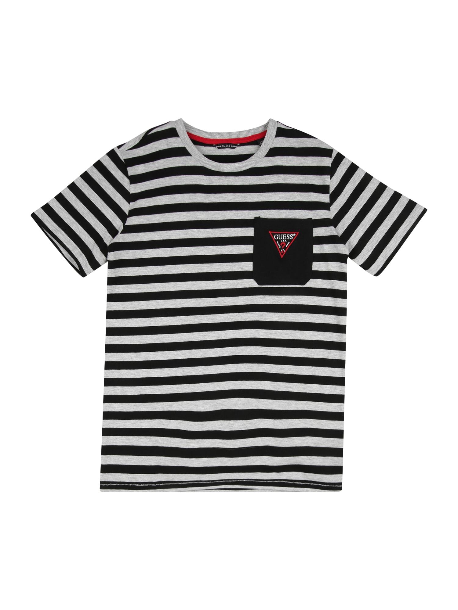 GUESS KIDS Marškinėliai pilka / juoda