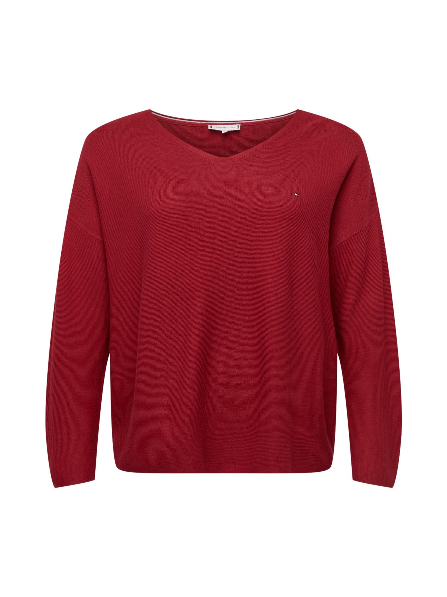 Tommy Hilfiger Curve Megztinis raudona