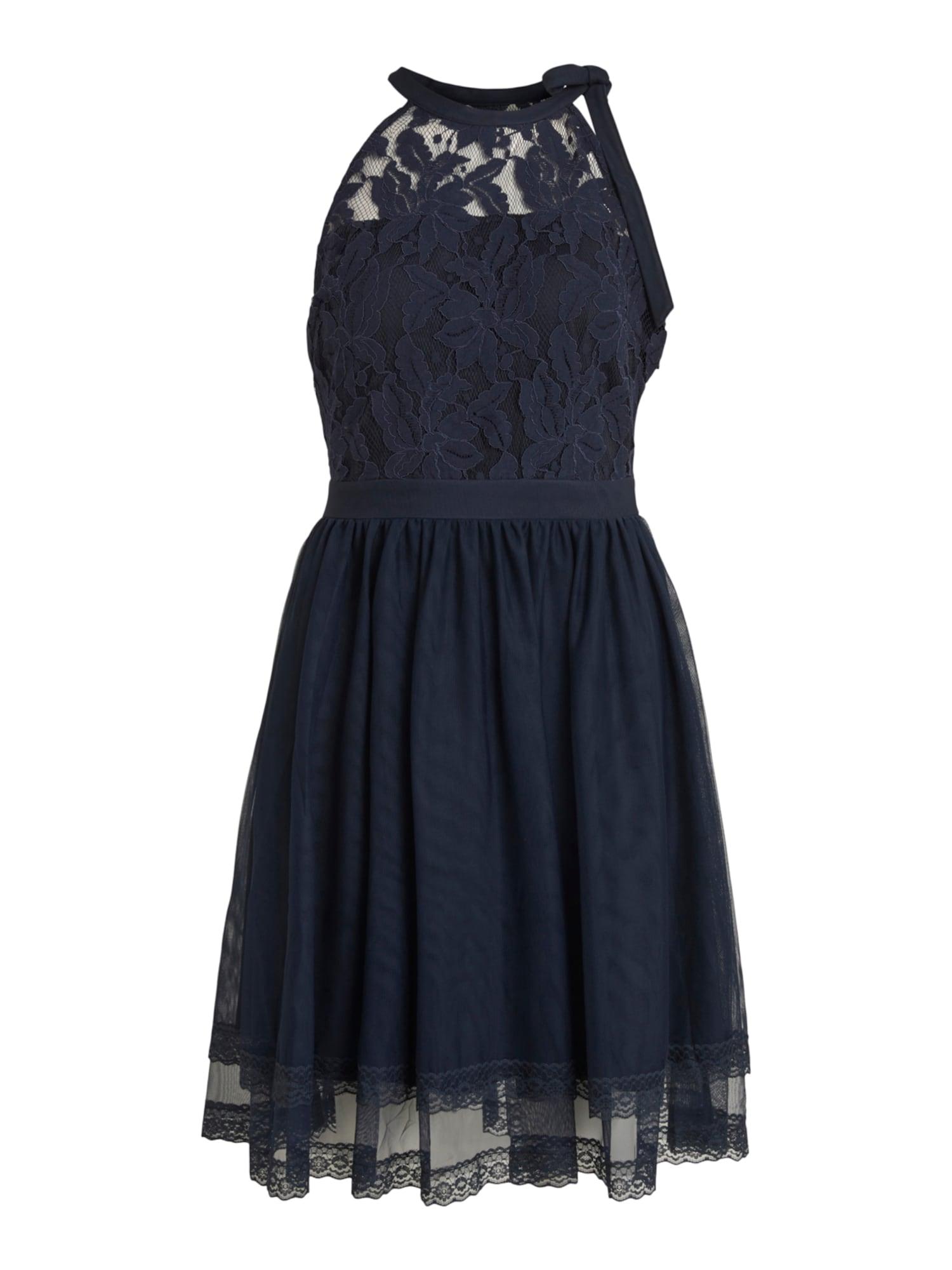 VILA Koktejlové šaty 'Zinna'  námořnická modř