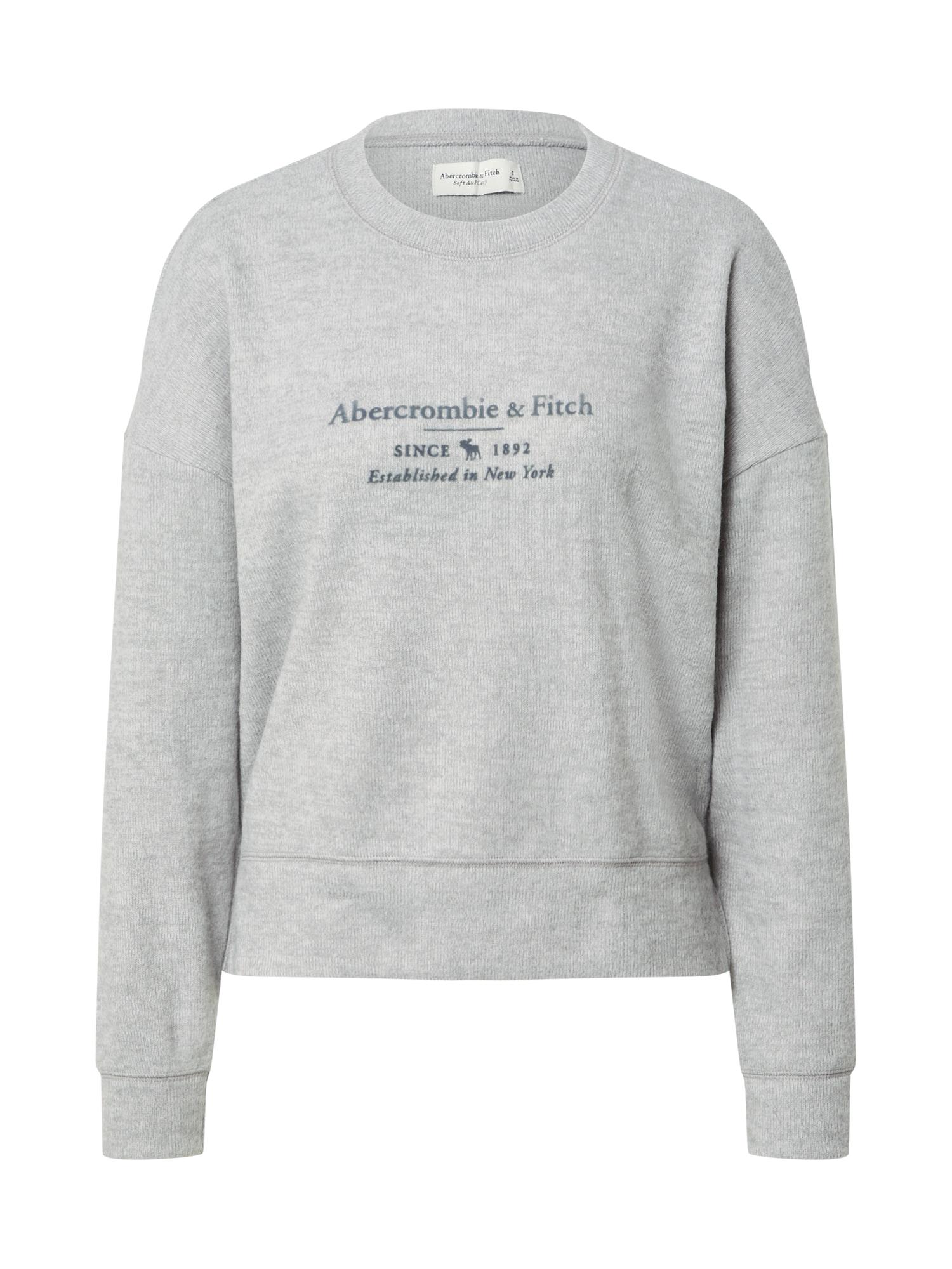 Abercrombie & Fitch Megztinis be užsegimo pilka / tamsiai mėlyna