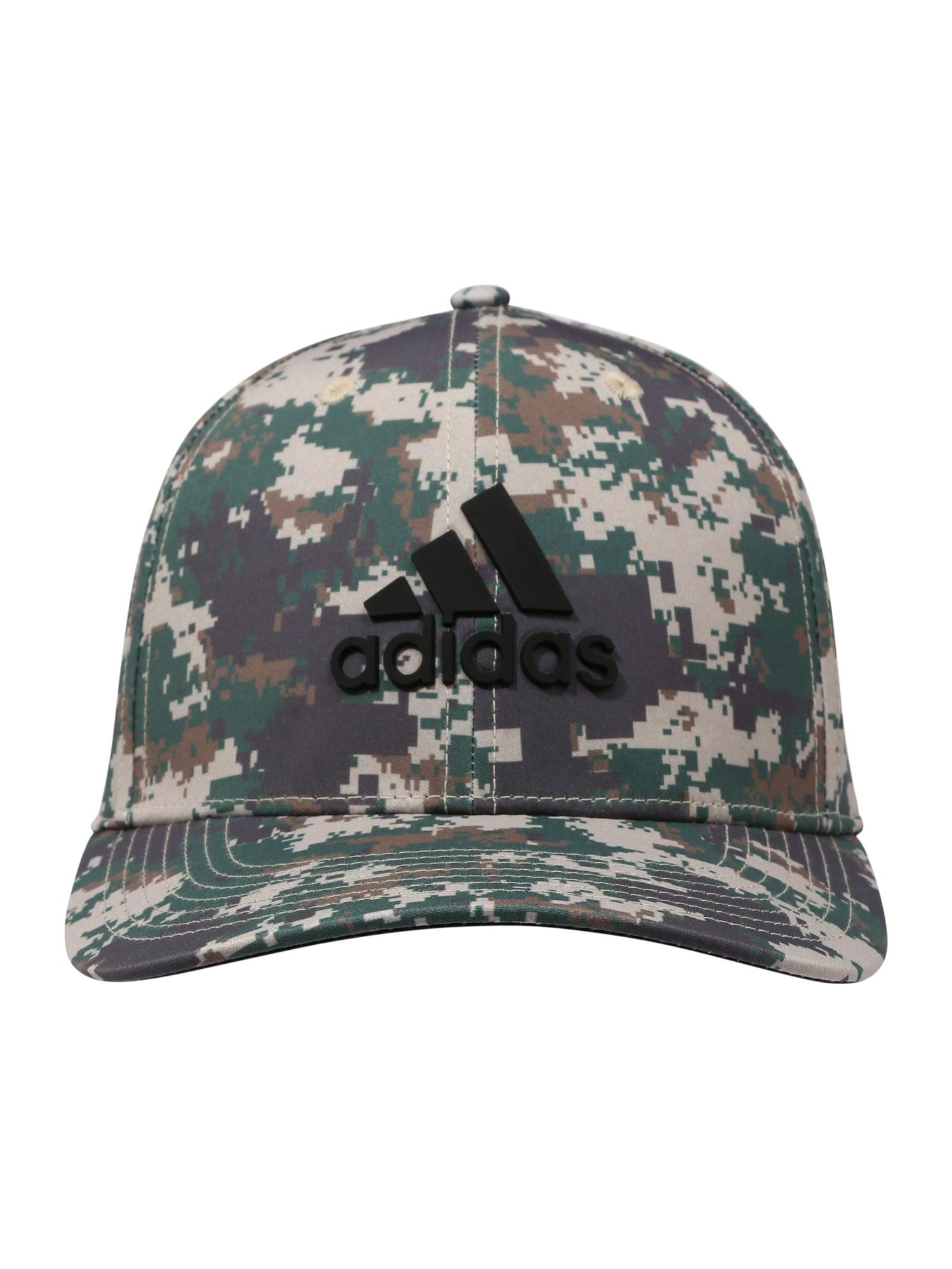adidas Golf Sportinė kepurė pilka / rusvai žalia / tamsiai žalia / juoda