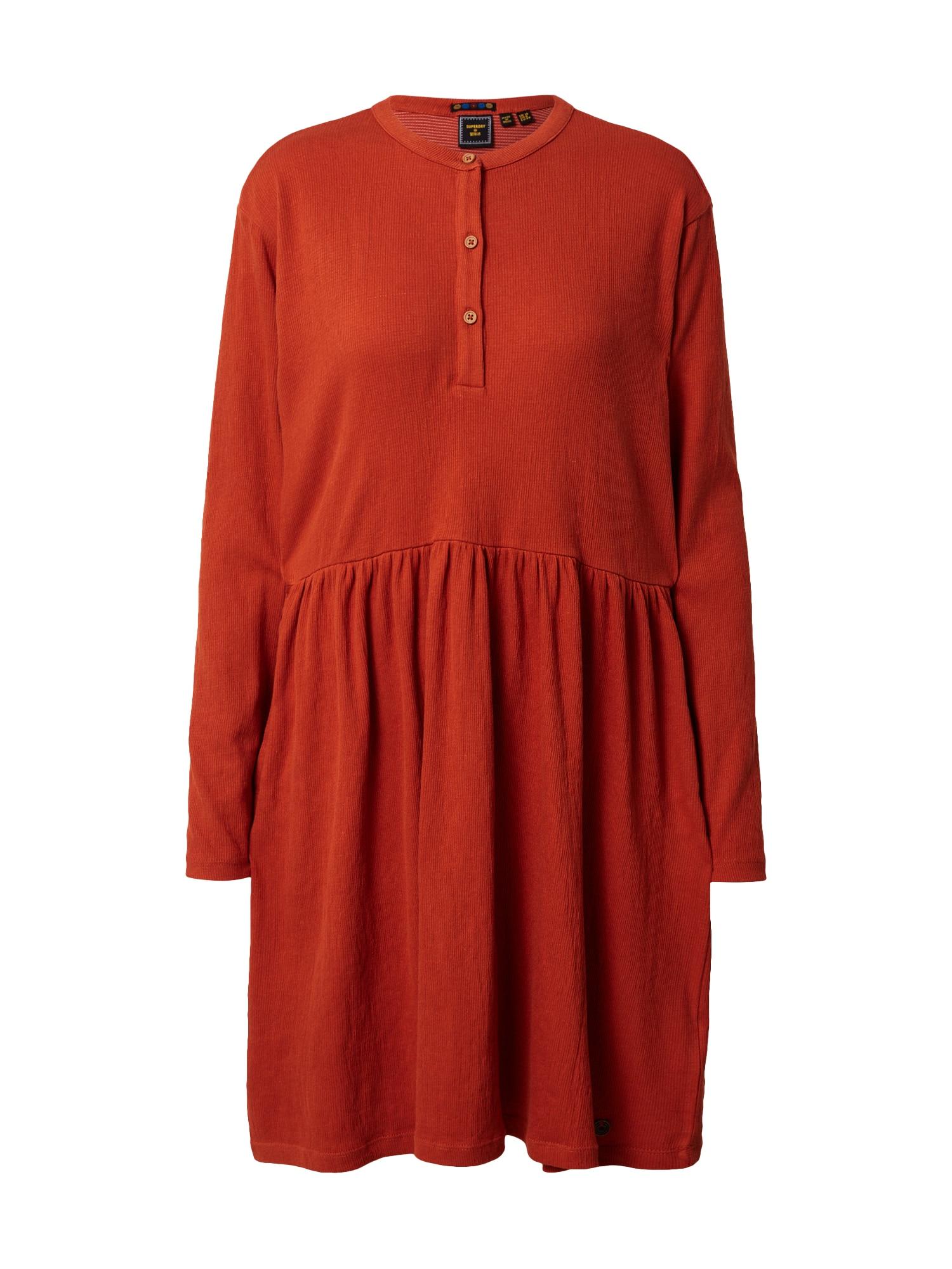 Superdry Košilové šaty  červená