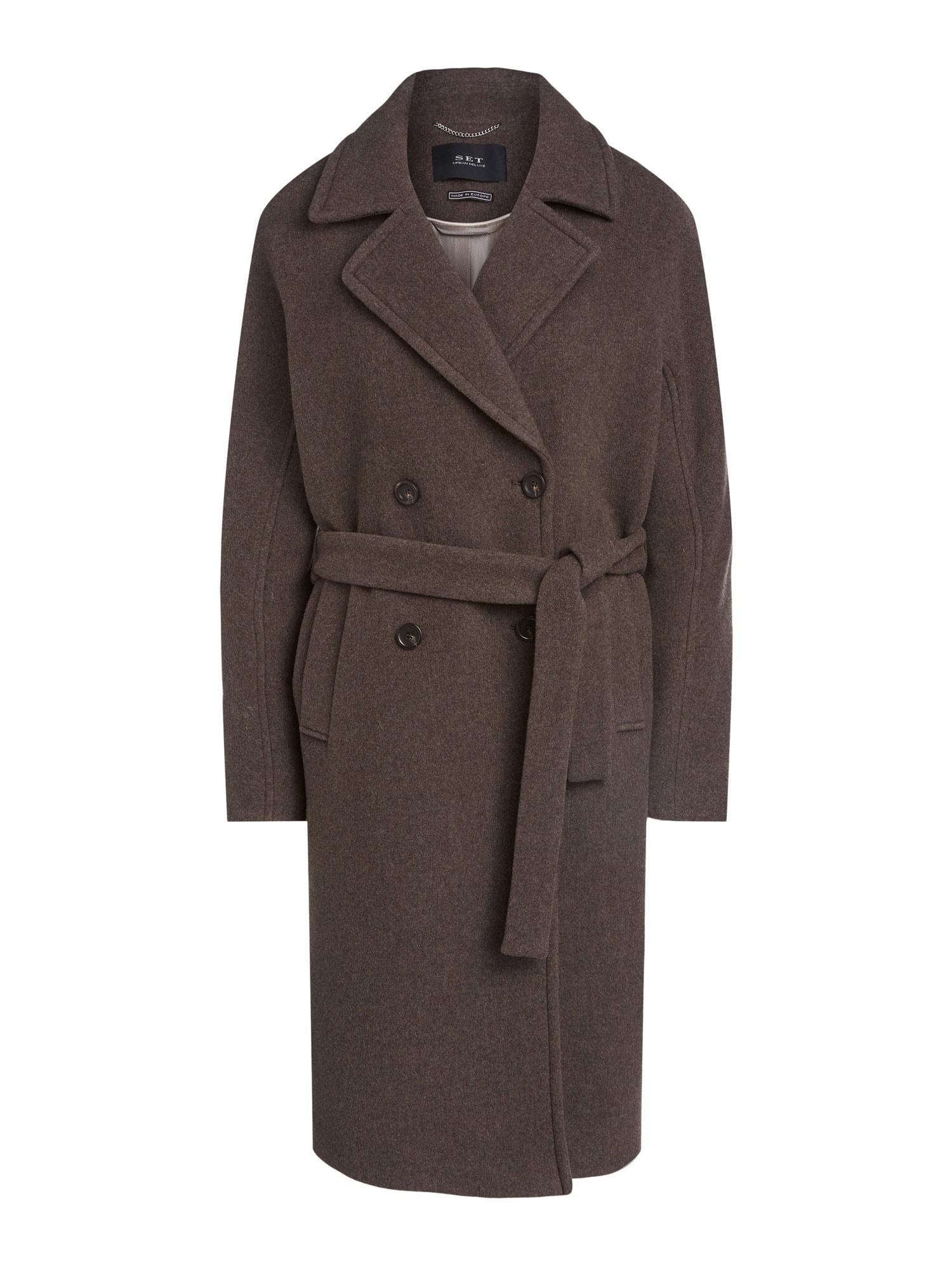 SET Přechodný kabát  šedobéžová