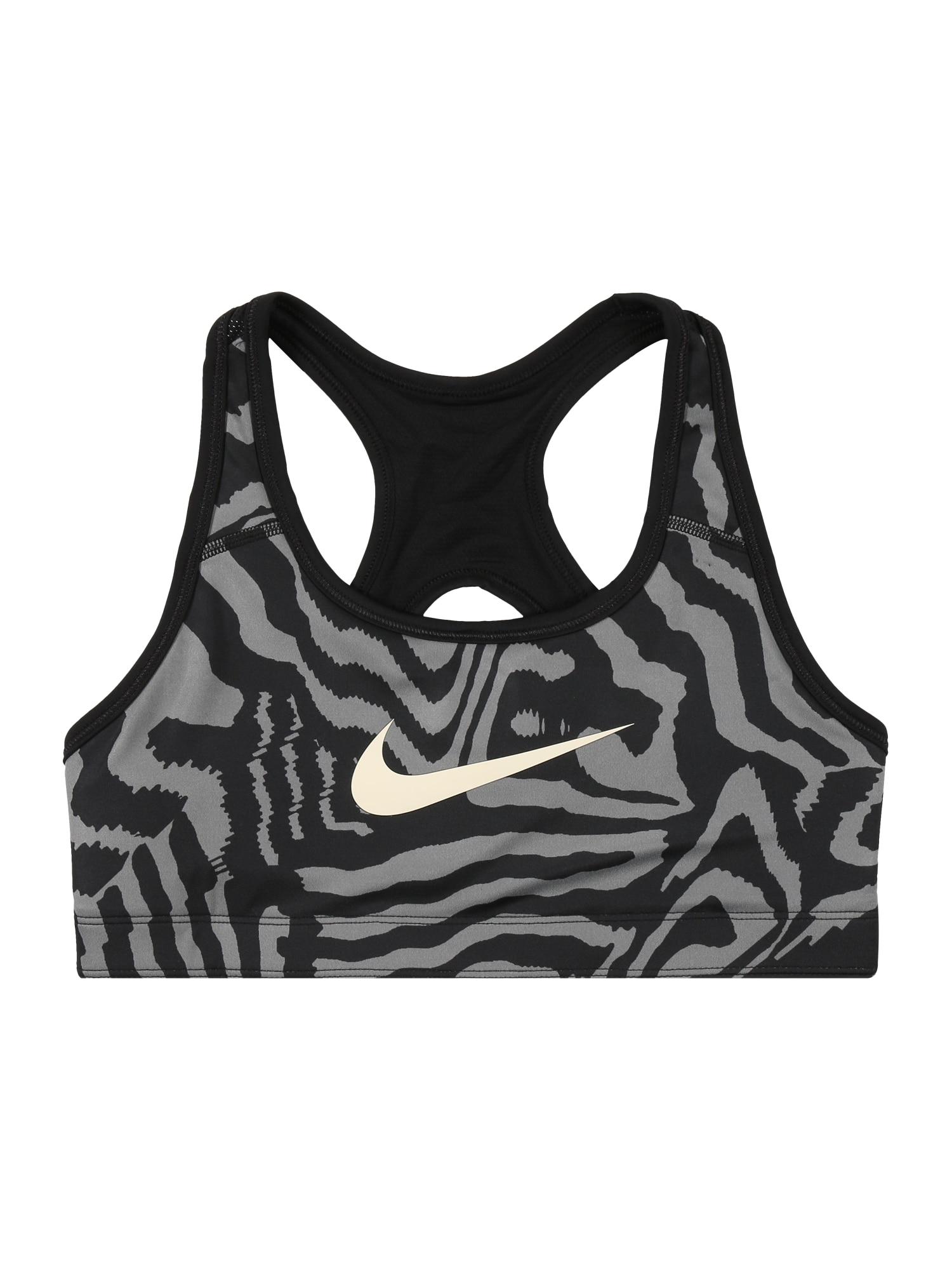 NIKE Sportinio stiliaus apatiniai drabužiai pilka / juoda / balta
