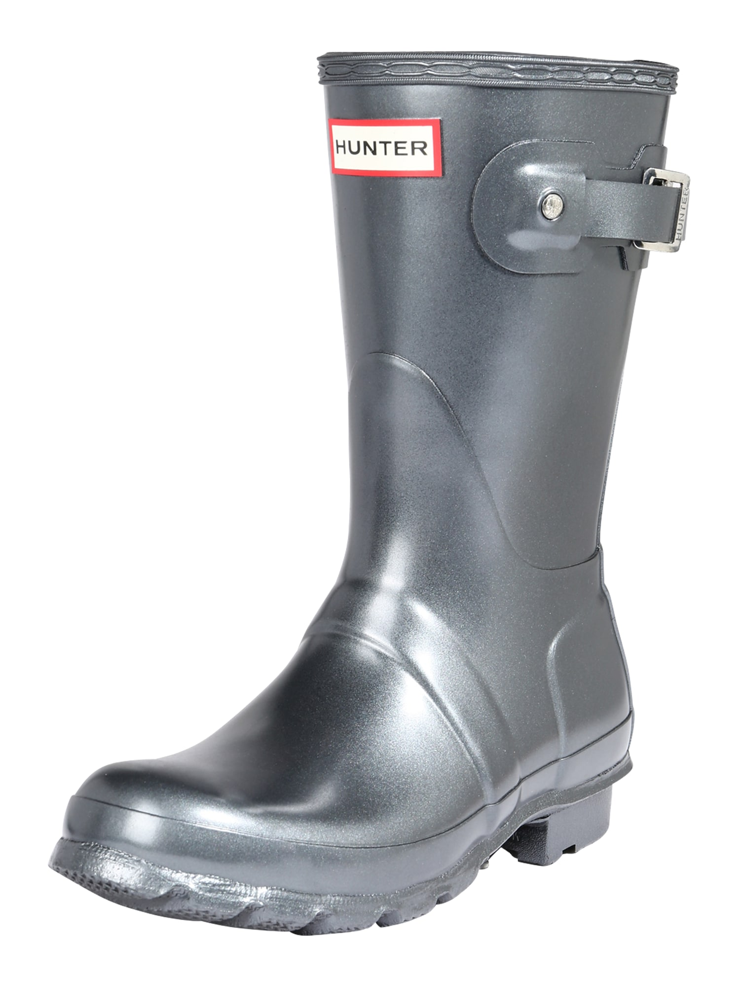 HUNTER Guminiai batai sidabro pilka