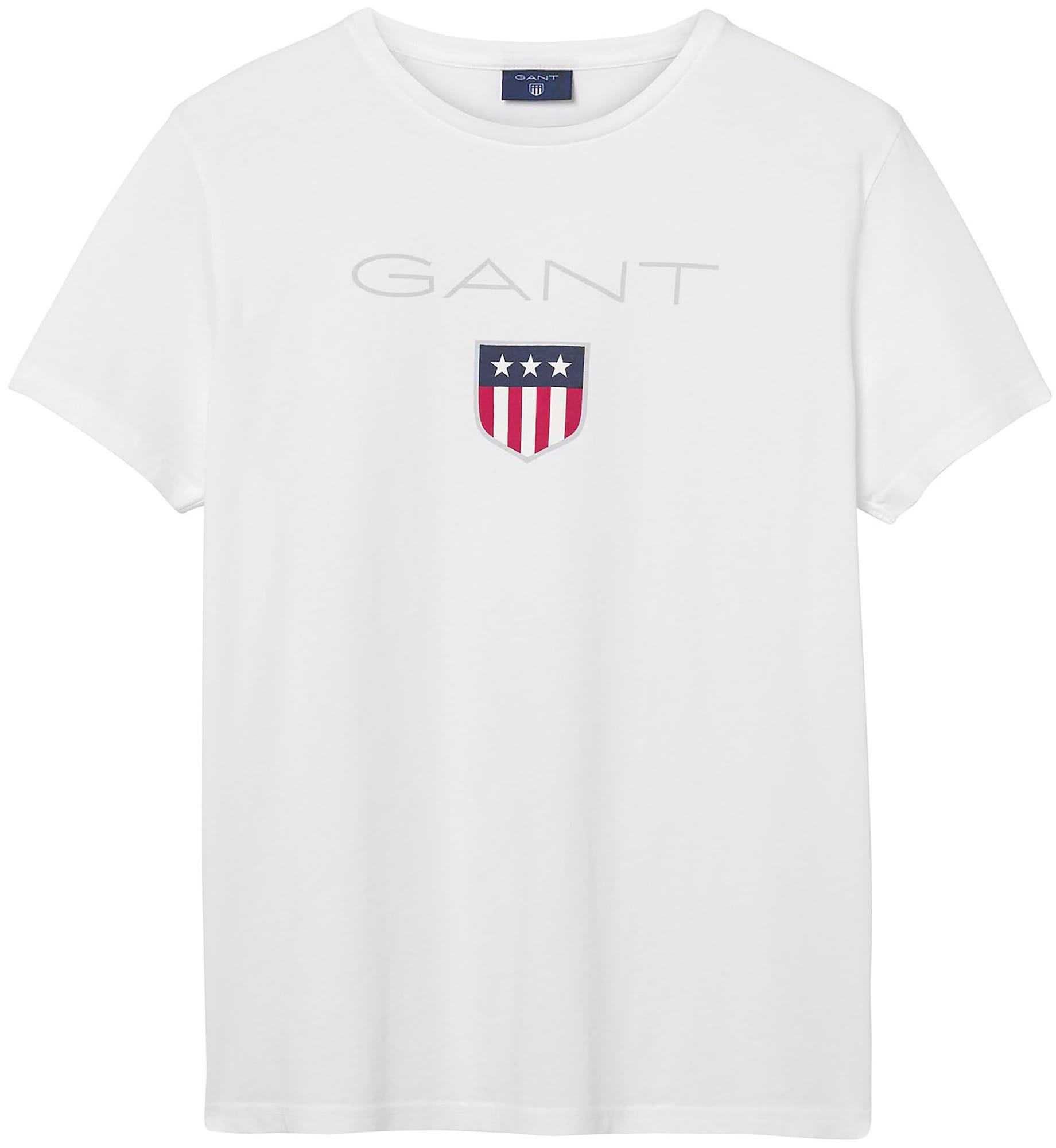 GANT Marškinėliai balta / raudona / mėlyna