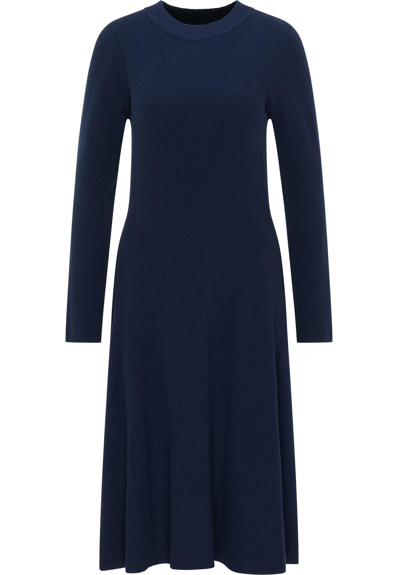 DreiMaster Klassik Megzta suknelė tamsiai mėlyna