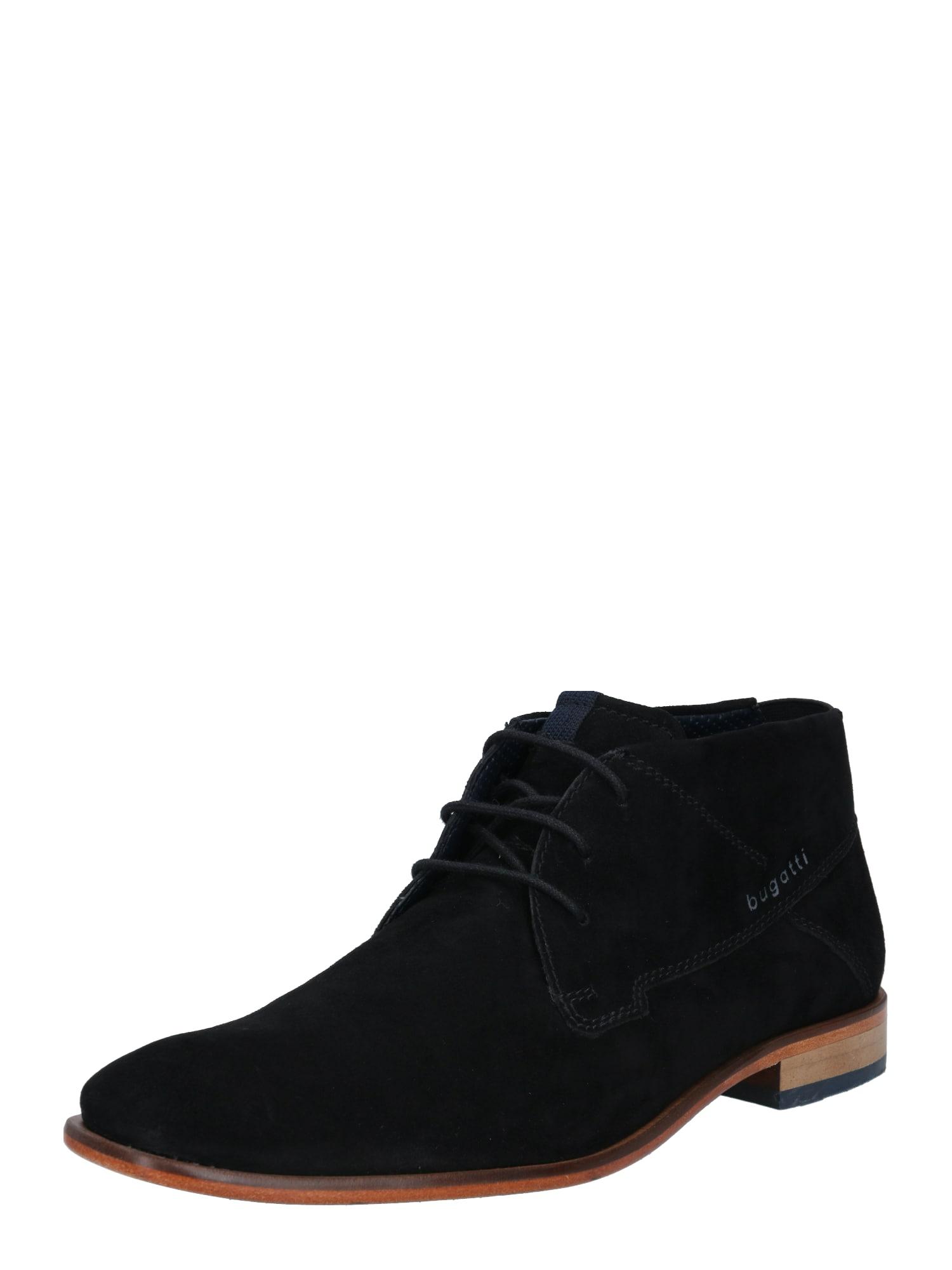 bugatti Šněrovací boty 'Mansueto'  černá
