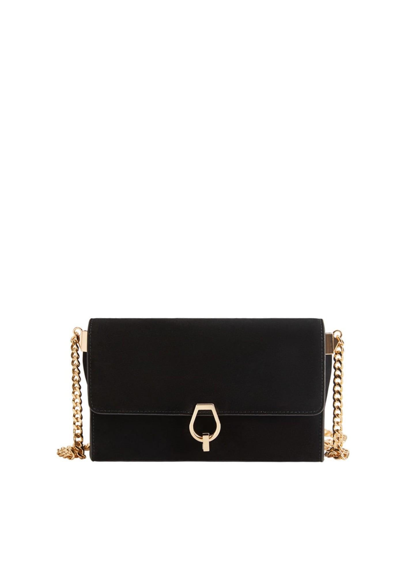 MANGO Nákupní taška 'Casandra'  černá / zlatá