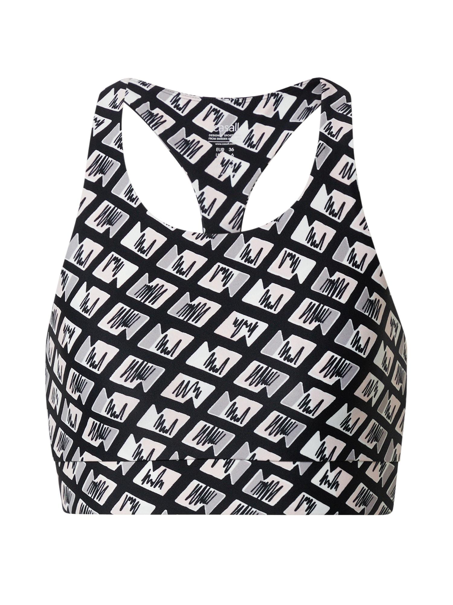 Casall Sportiniai marškinėliai be rankovių balta / antracito / šviesiai pilka