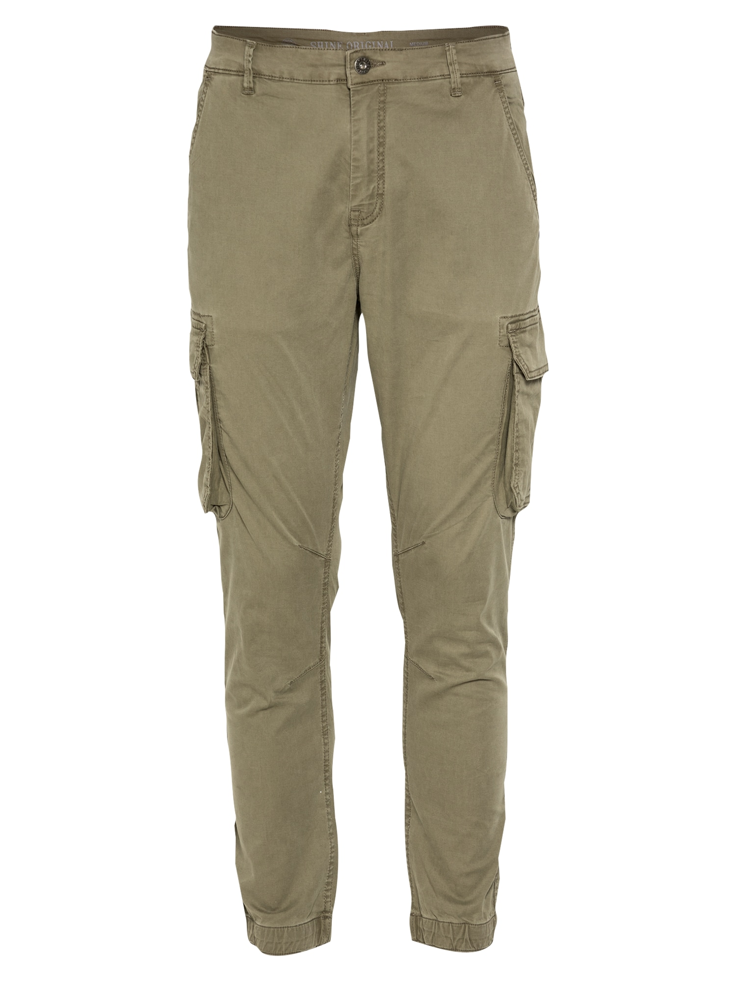 SHINE ORIGINAL Laisvo stiliaus kelnės rusvai žalia