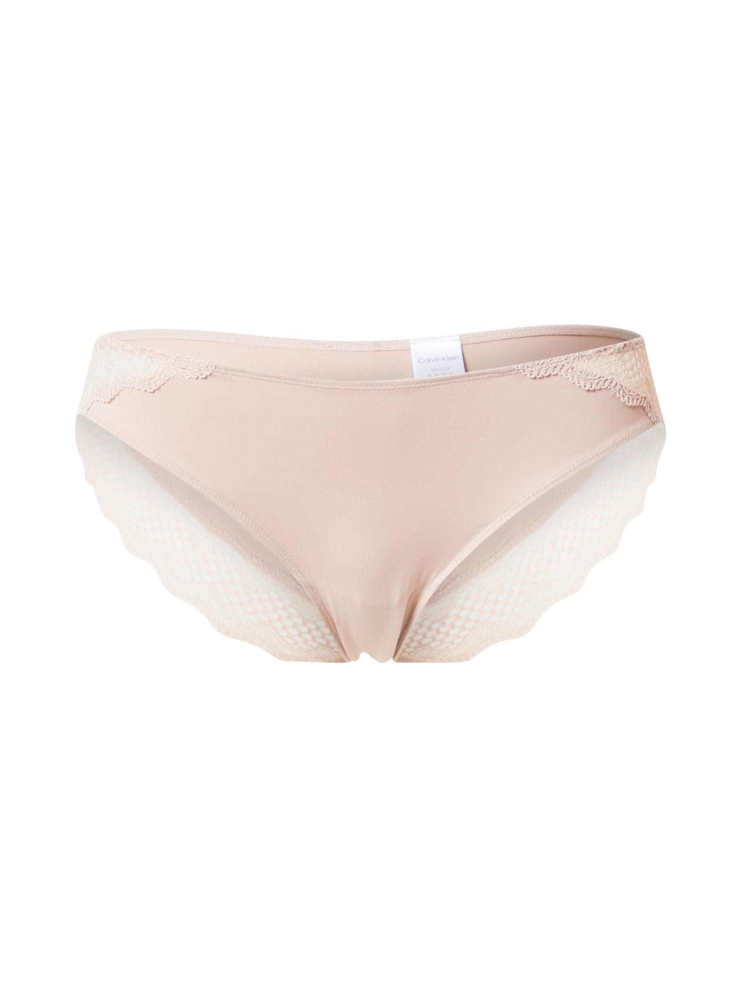 Calvin Klein Underwear Moteriškos kelnaitės pudros spalva
