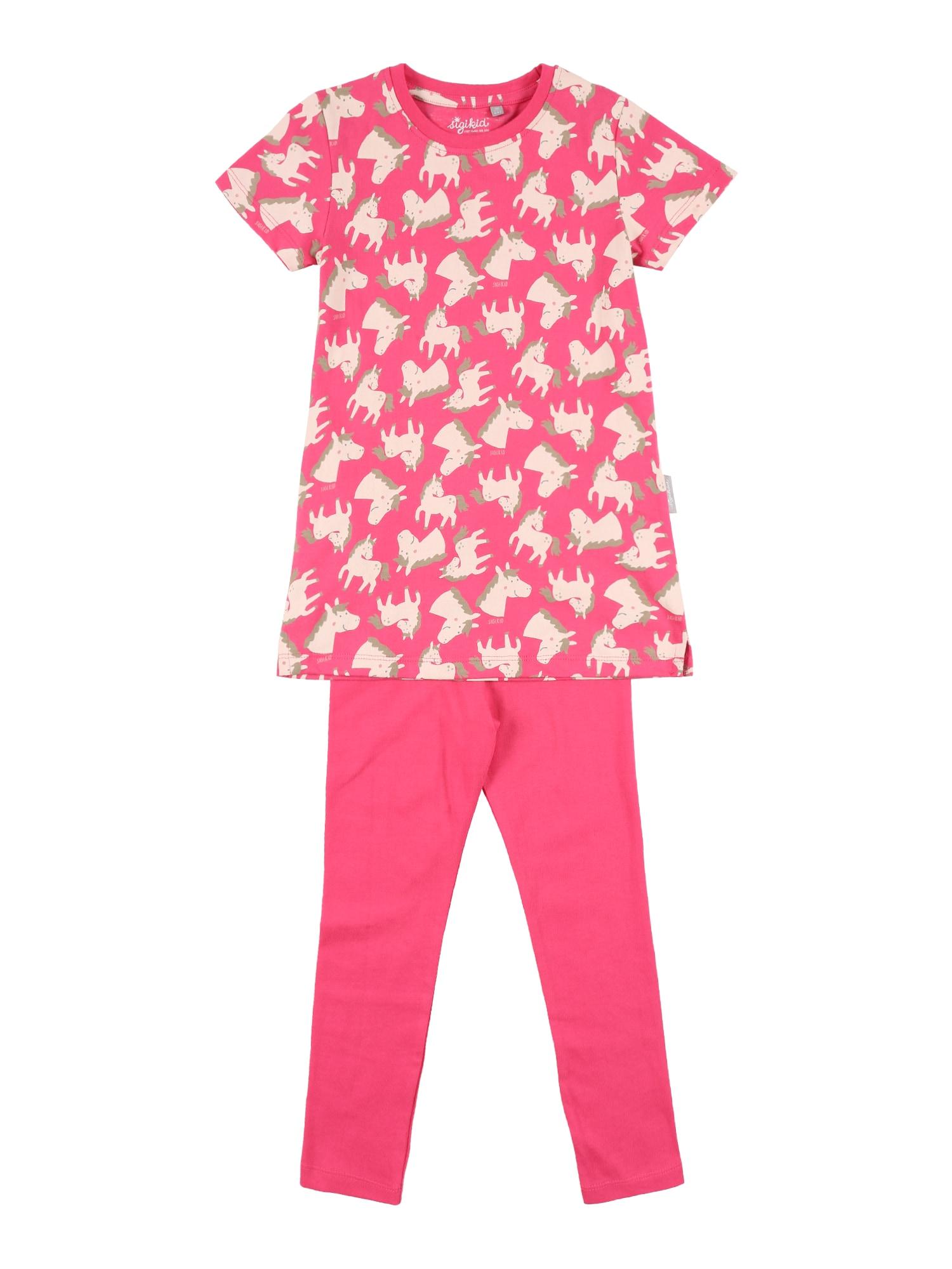 SIGIKID Miego kostiumas rožinė / rožių spalva / rusvai žalia