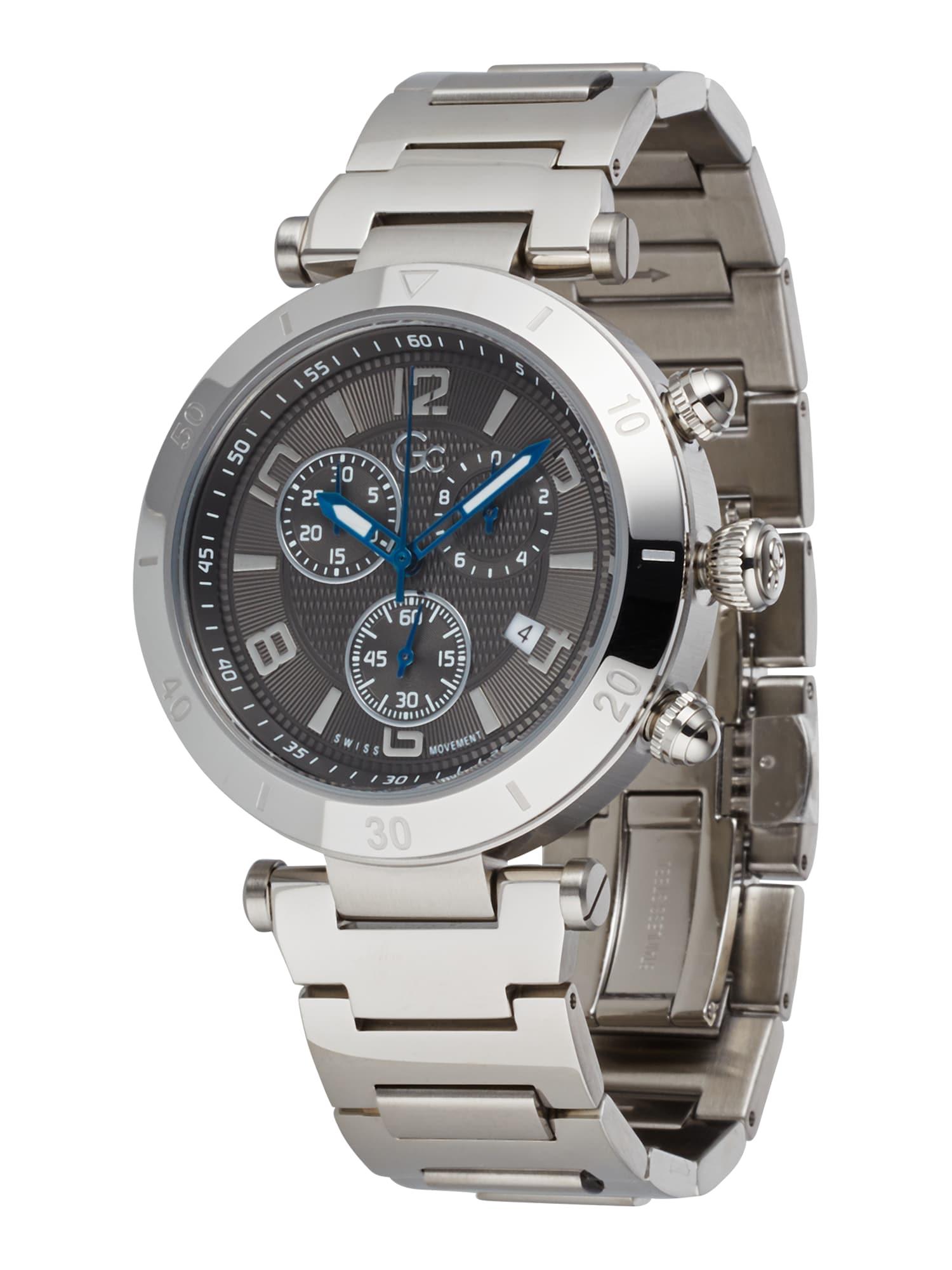 Gc Analoginis (įprasto dizaino) laikrodis sidabrinė / juoda