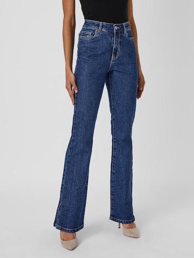 """- Jeans mit ausgestellter Beinform - Hohe Bundhöhe - Skinny Fit an den Oberschenkeln - Five-Pocket-Style - Knopf- und Reißverschluss - Gürtelschlaufen - Mit recycelter Baumwolle - Ausgestellte Beinform - Schritthöhe """"34"""": 85 cm in Größe 27 - Das Model ist 175 cm groß und trägt Größe 27 Ausgestellte Jeans im Five-Pocket-Design mit High Rise, schmalen Oberschenkeln, Hosenschlitz mit Reiß- und Knopfverschluss sowie Gürtelschlaufen. Kombiniere diese wunderschöne, ausgestellte Jeans mit einer süßen Bluse und deinen Lieblingsstiefeln zu einem hübschen und stylischen Alltagslook.  MIT RECYCELTER BAUMWOLLE Dieses Produkt enthält recycelte Baumwolle. Recycelte Baumwolle schont die natürlichen Ressourcen und reduziert Textilabfälle."""