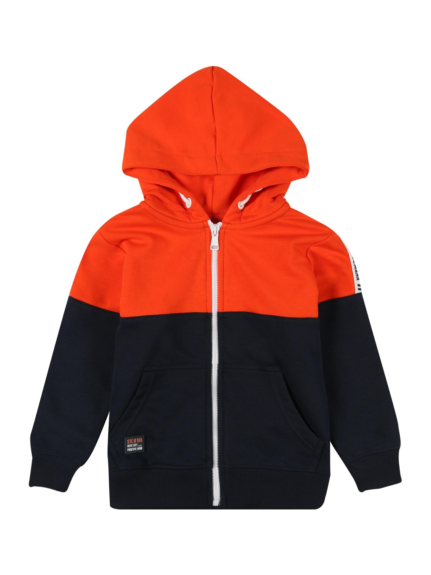 STACCATO Džemperis oranžinė-raudona / tamsiai mėlyna