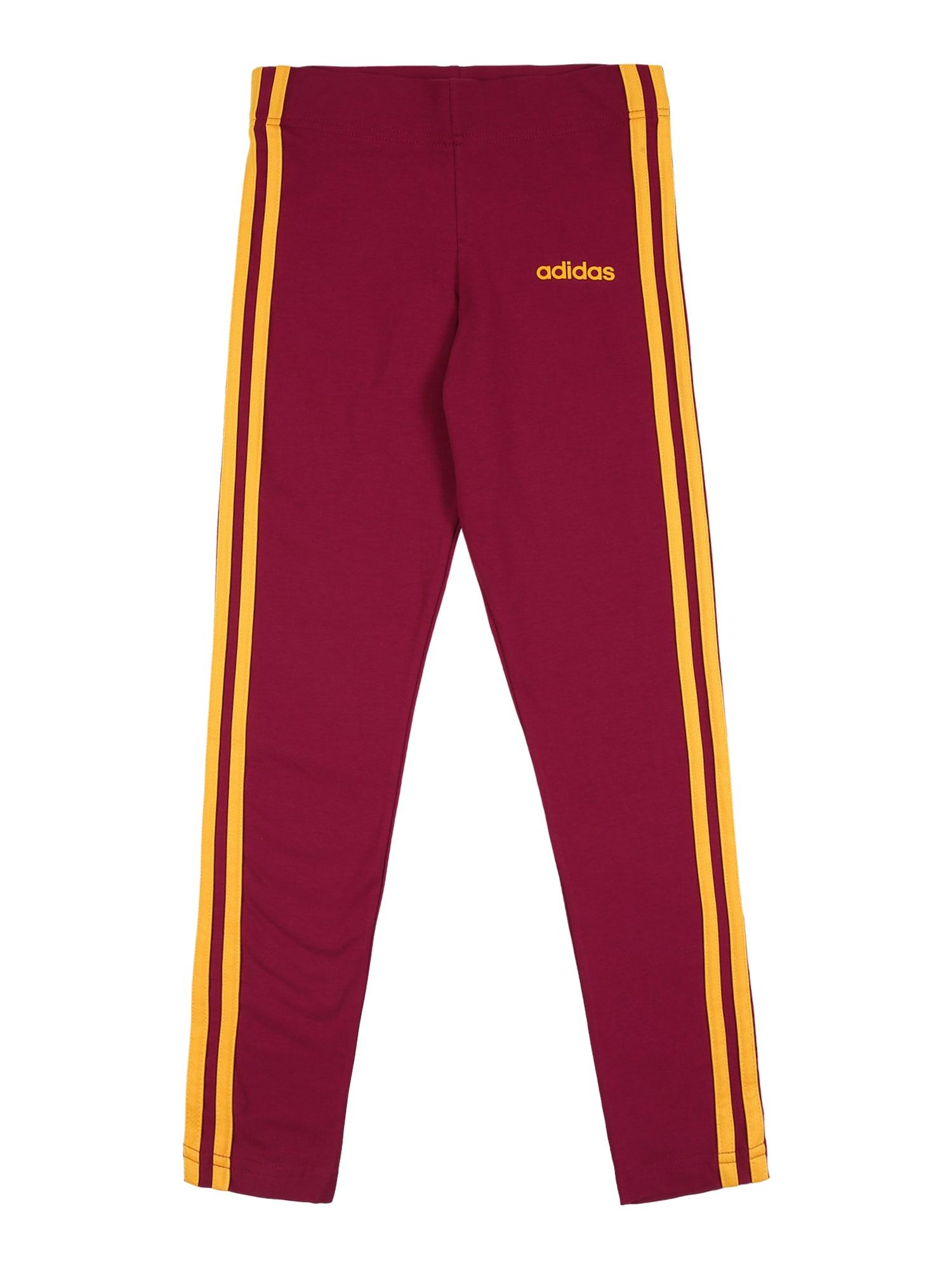 ADIDAS PERFORMANCE Sportovní kalhoty  bobule / žlutá