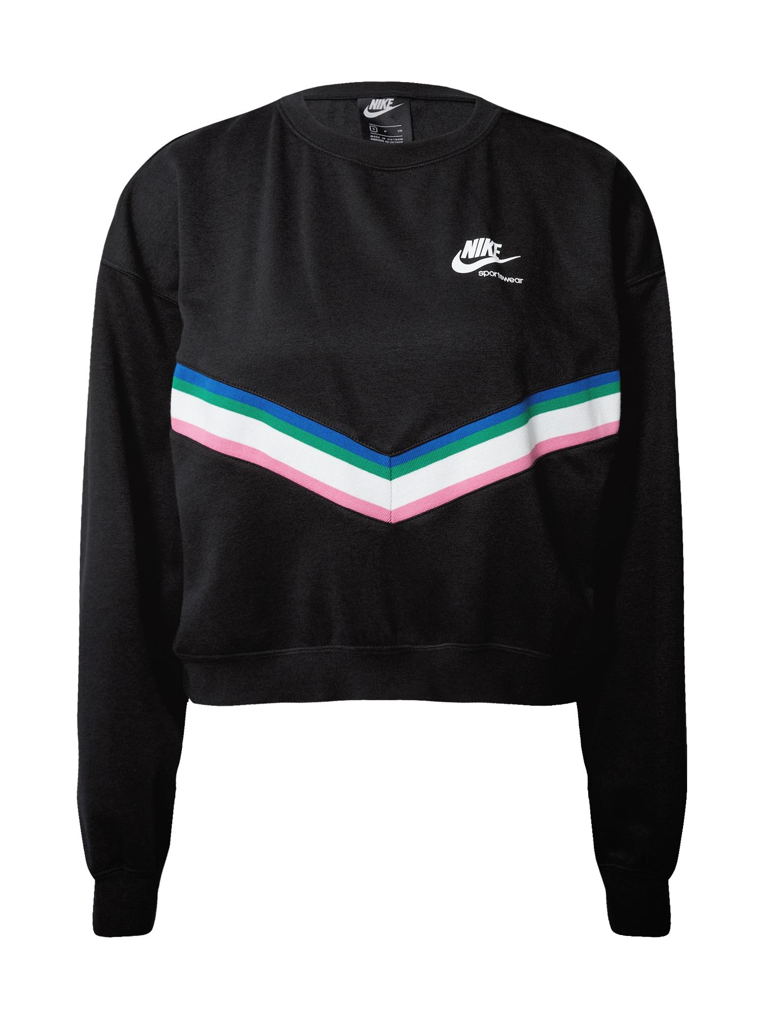 Nike Sportswear Mikina  mix barev / černá