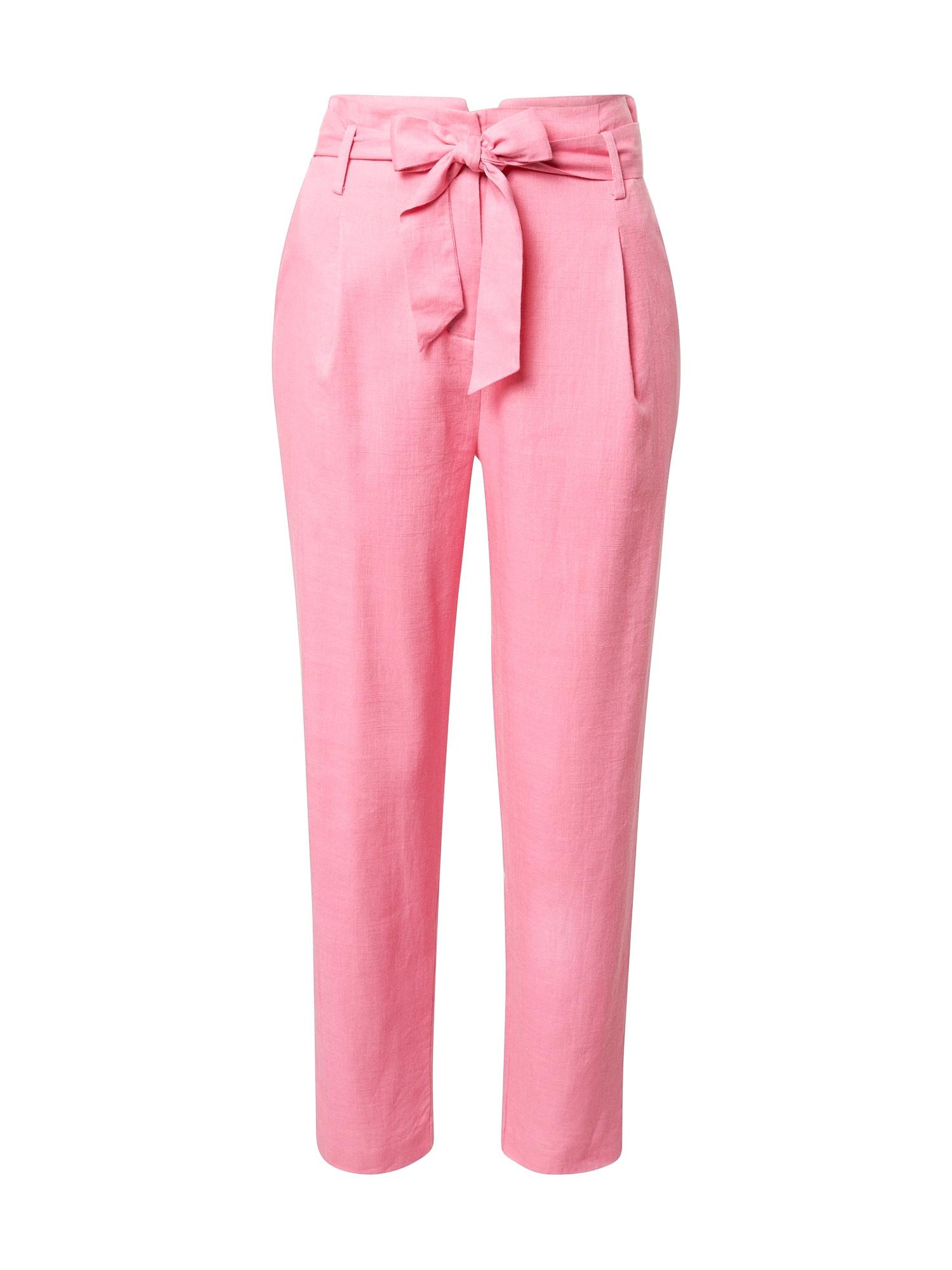 FRNCH PARIS Klostuotos kelnės rožinė