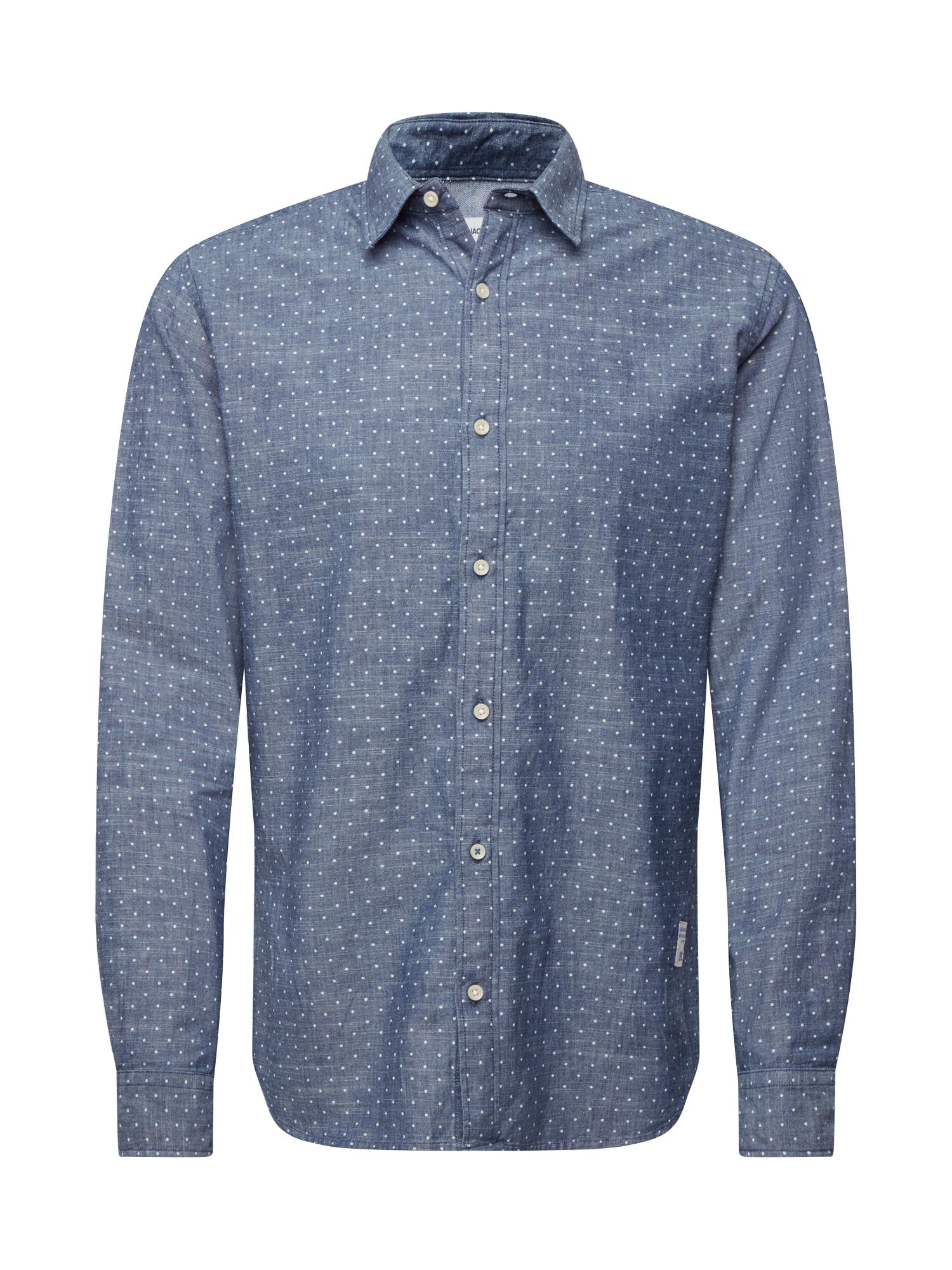 JACK & JONES Košile  modrá / šedá
