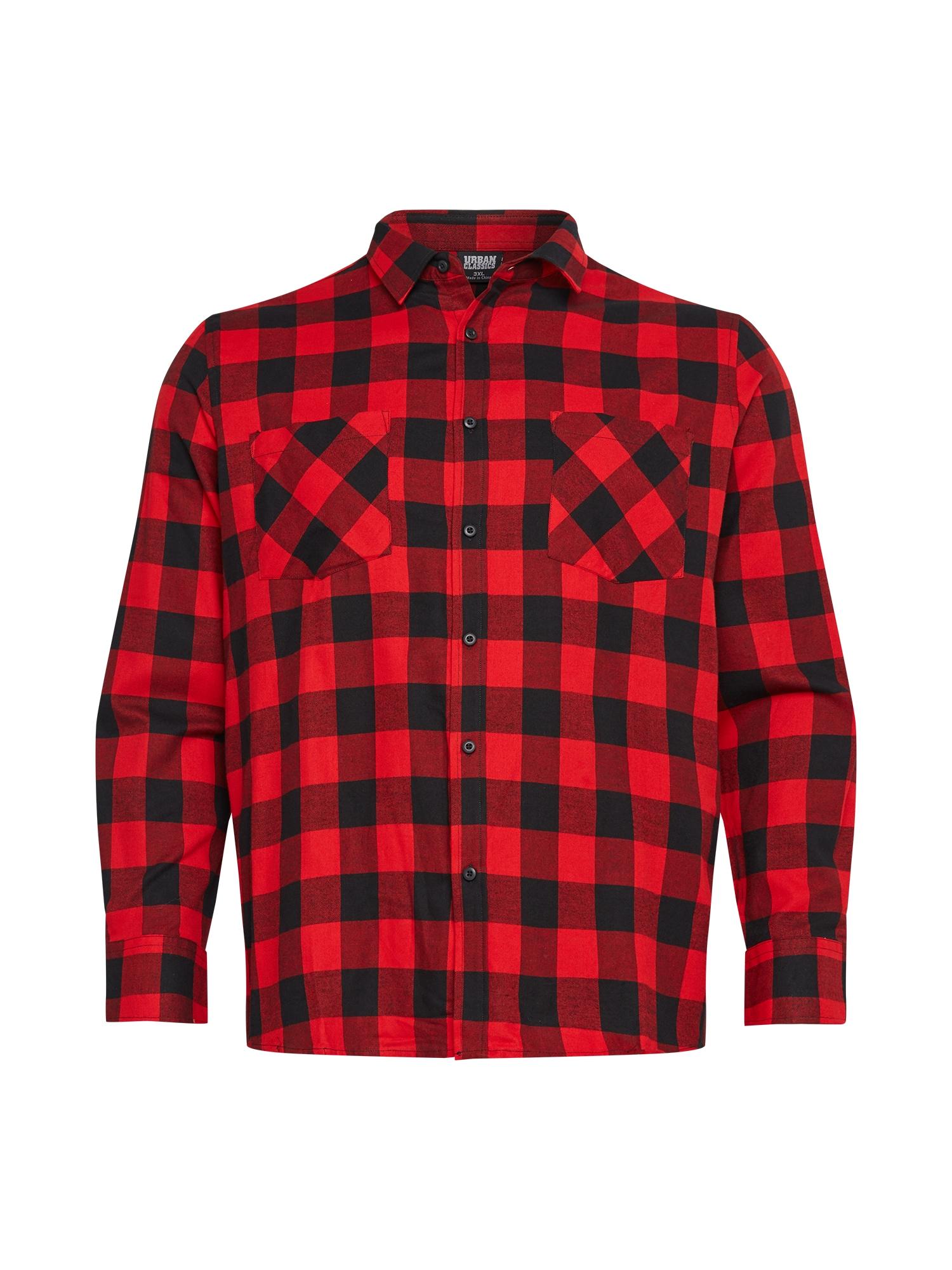 Urban Classics Big & Tall Marškiniai raudona / juoda