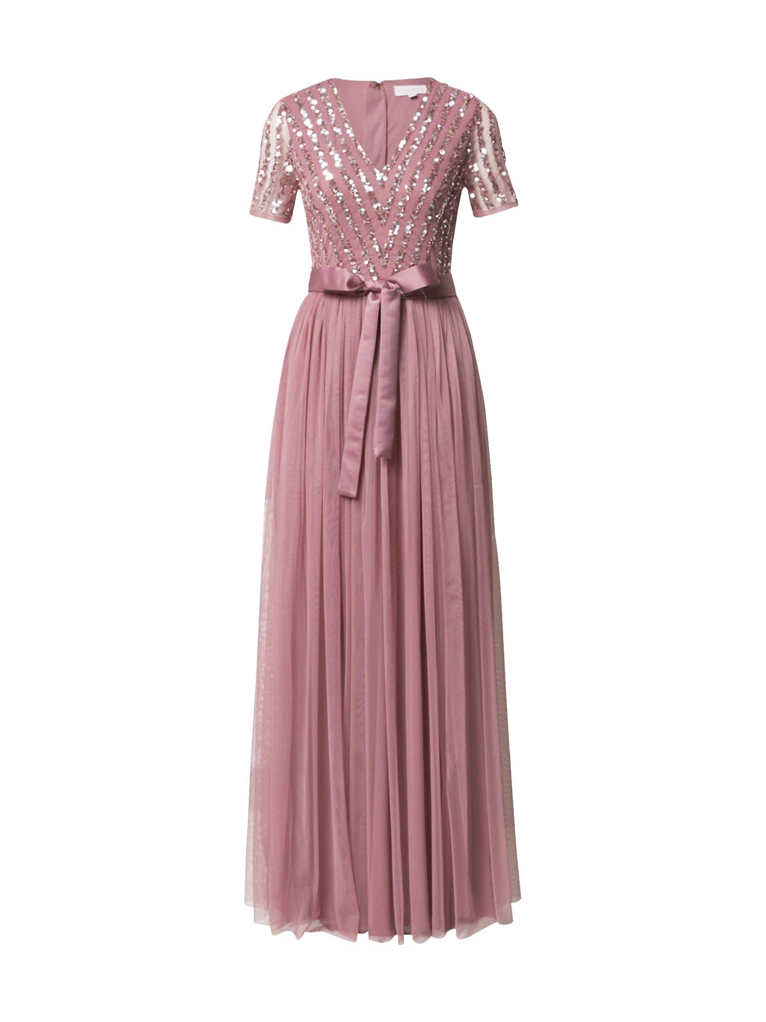 Maya Deluxe Společenské šaty  pink / stříbrná