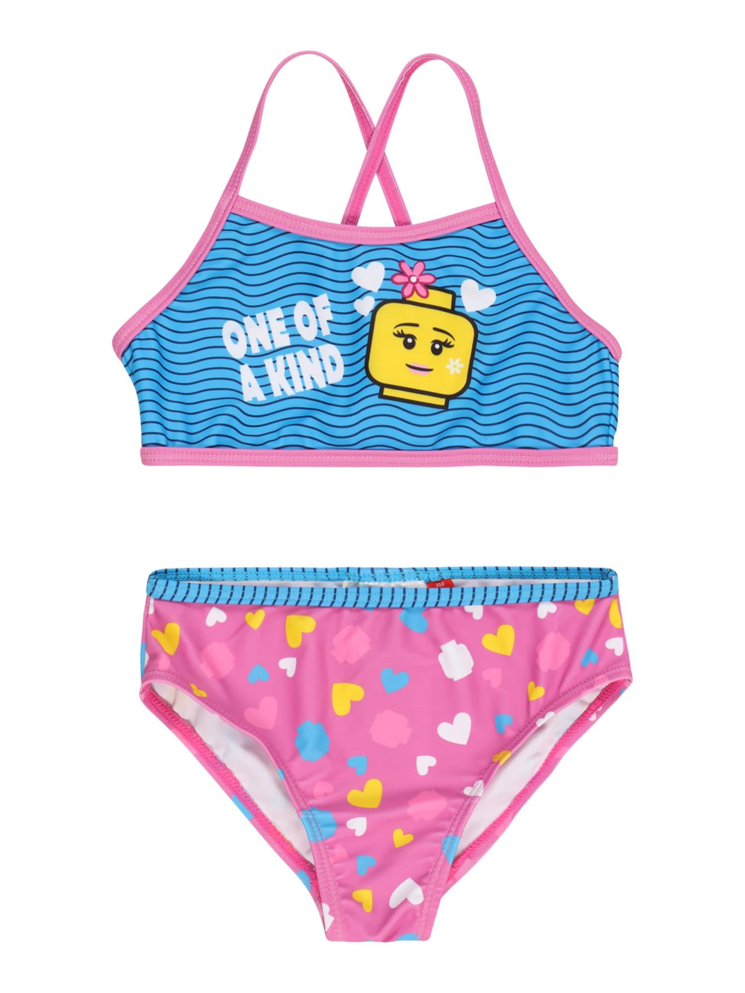 LEGO WEAR Bikinis dangaus žydra / šviesiai rožinė / geltona / balta