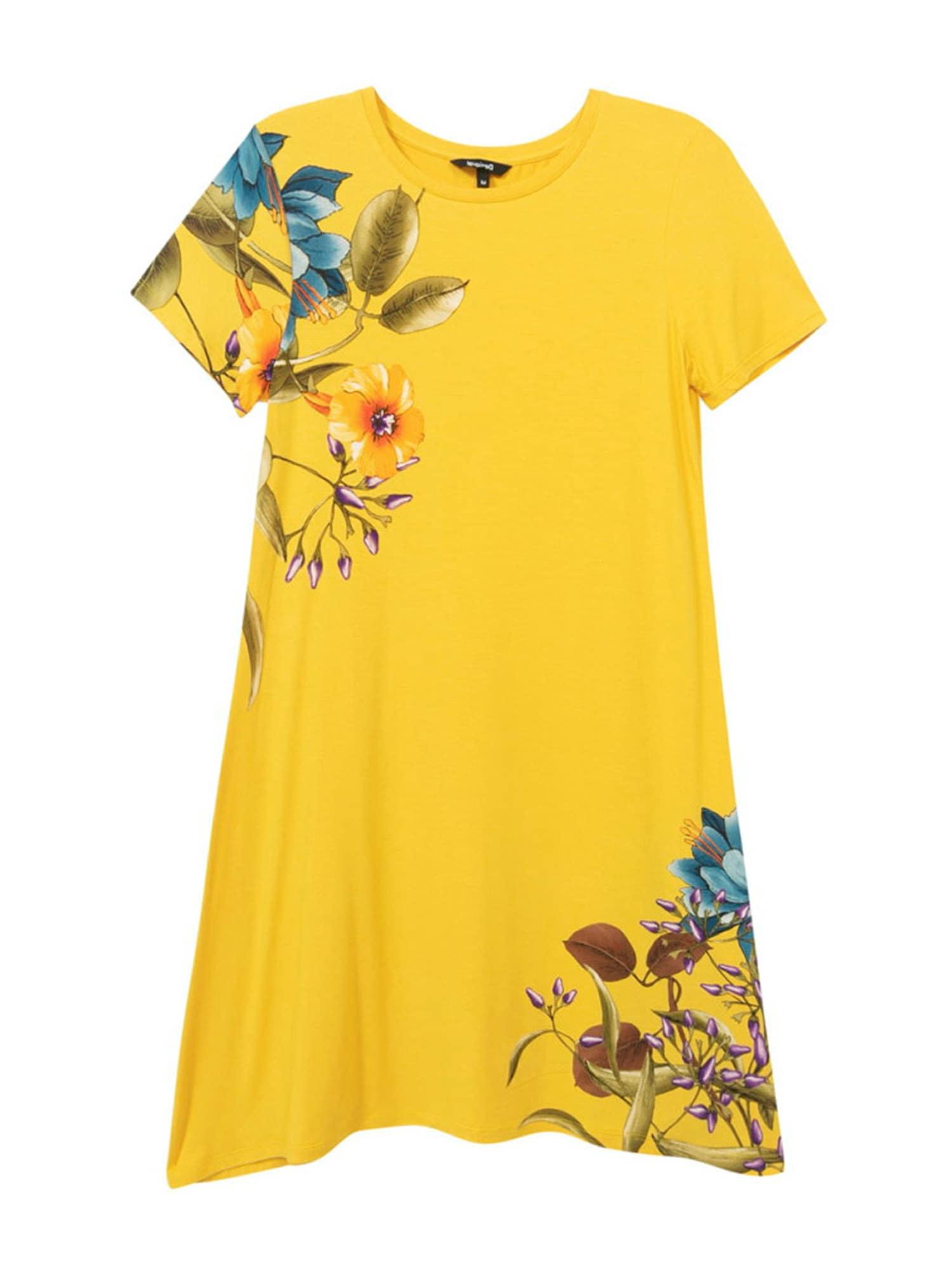 Desigual Letní šaty 'LAS VEGAS'  žlutá / khaki / modrá / oranžová / fialová