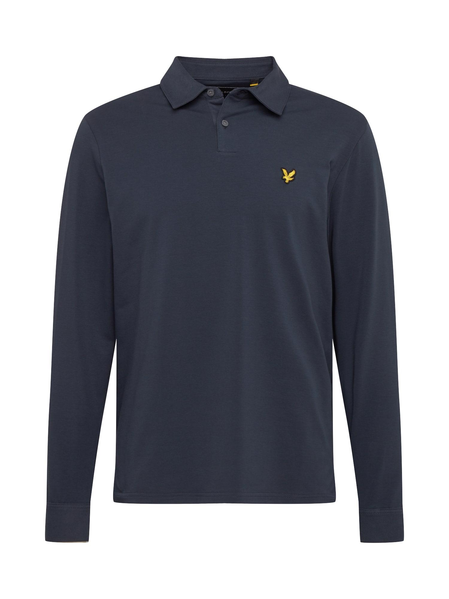 Lyle & Scott Marškinėliai tamsiai mėlyna / juoda / auksas