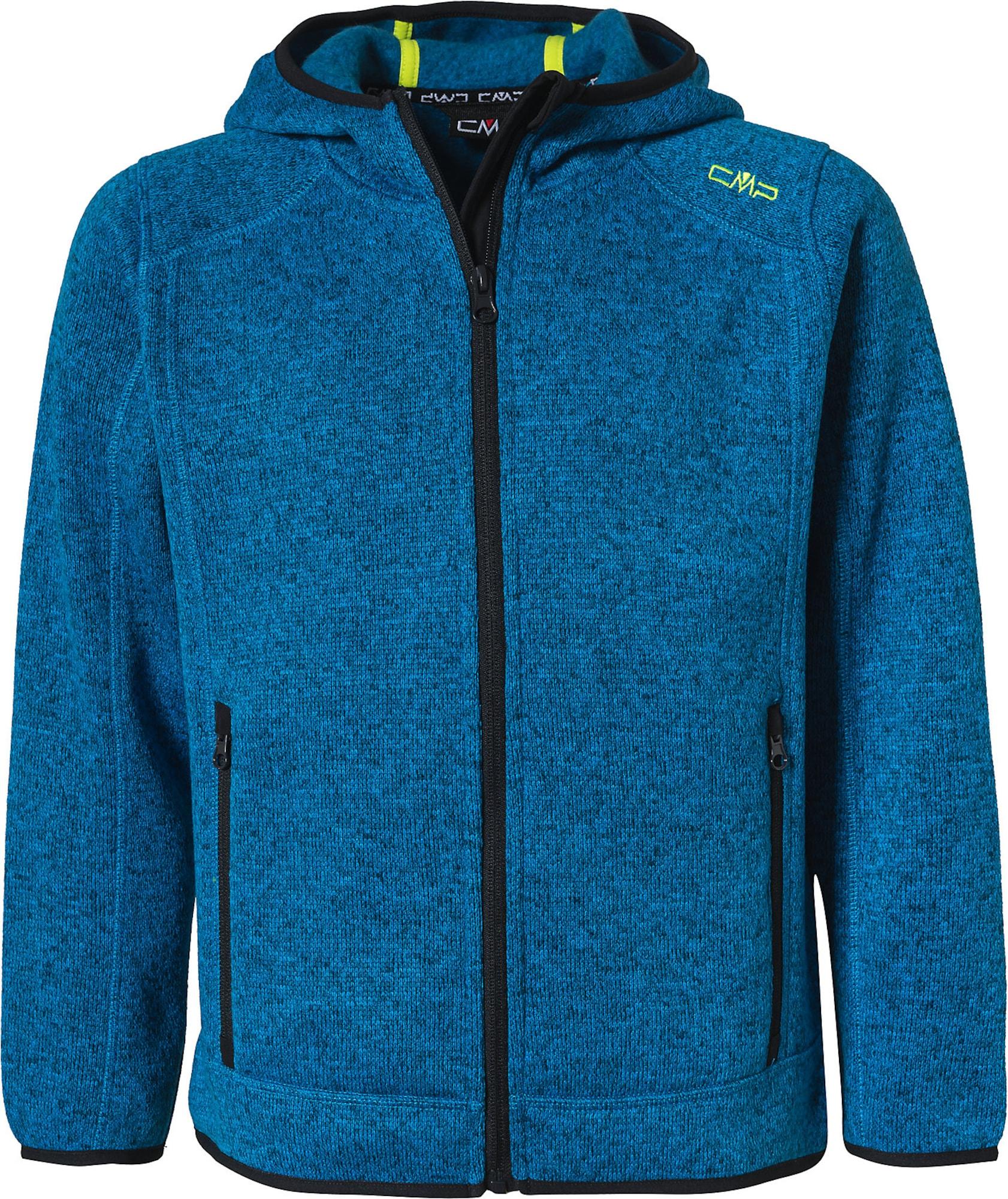 CMP Funkcinis flisinis džemperis margai mėlyna / neoninė geltona