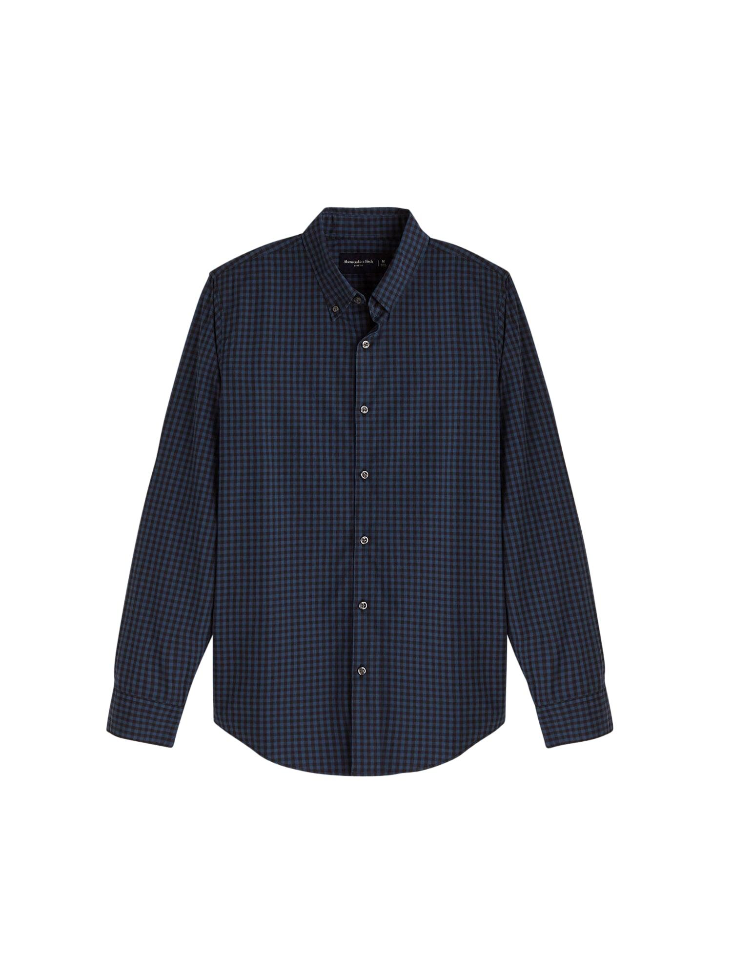 Abercrombie & Fitch Košile 'Signature'  námořnická modř / černá