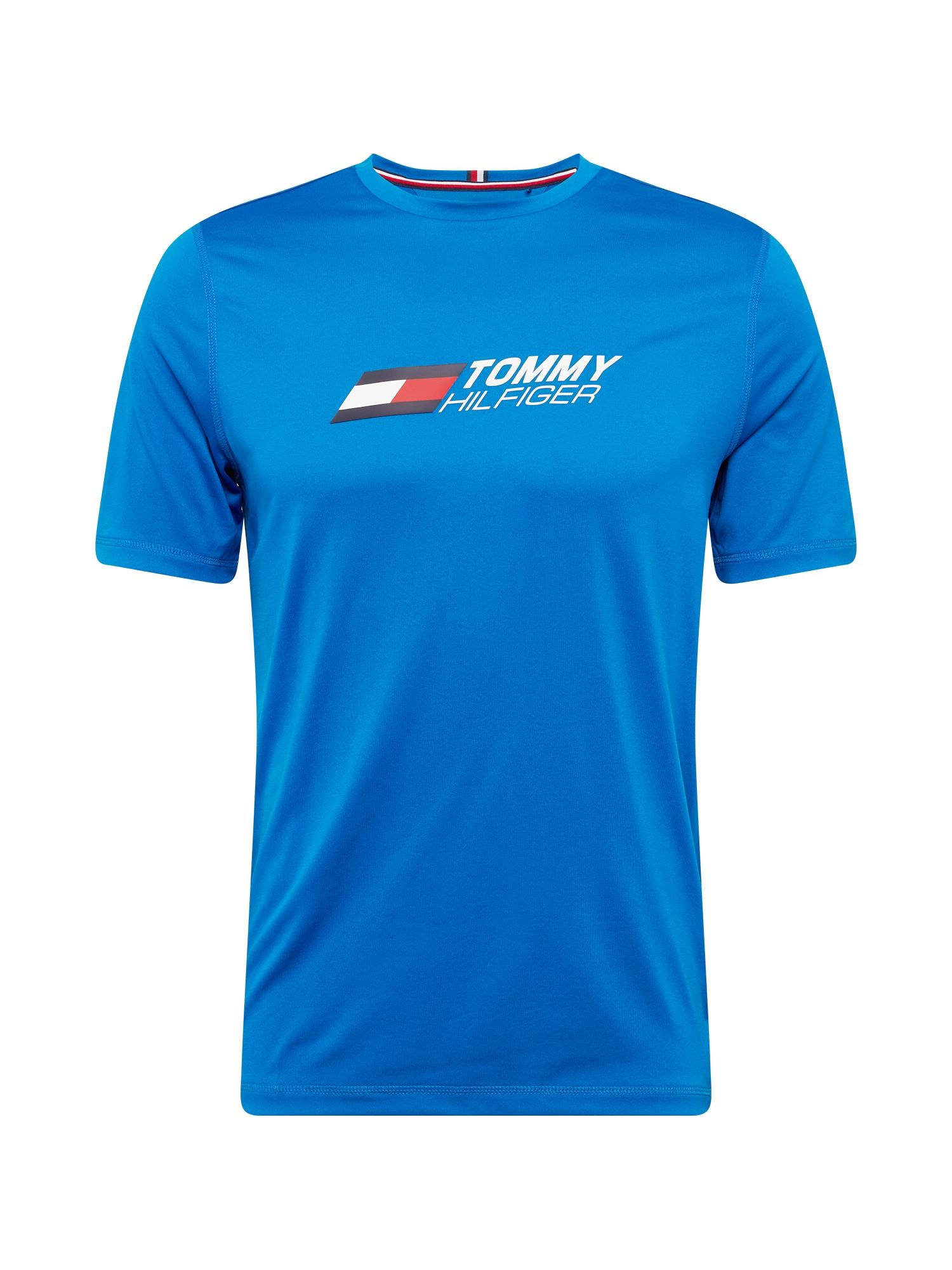 Tommy Sport Sportiniai marškinėliai mėlyna / balta / nakties mėlyna / raudona