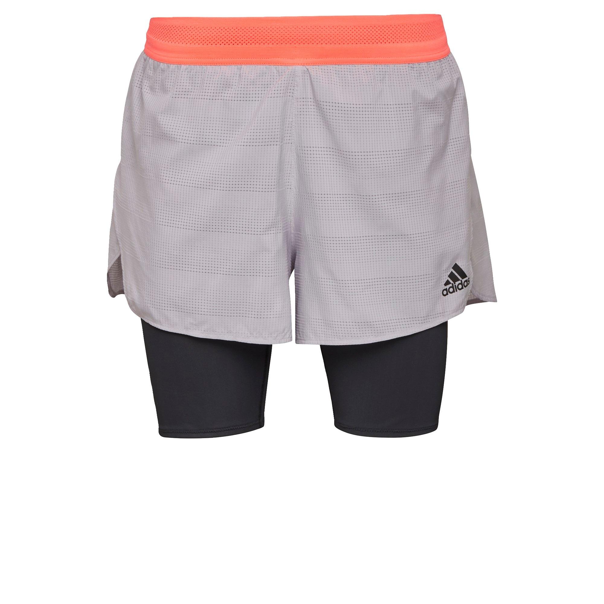 ADIDAS PERFORMANCE Sportovní kalhoty  meruňková / šedá / černá