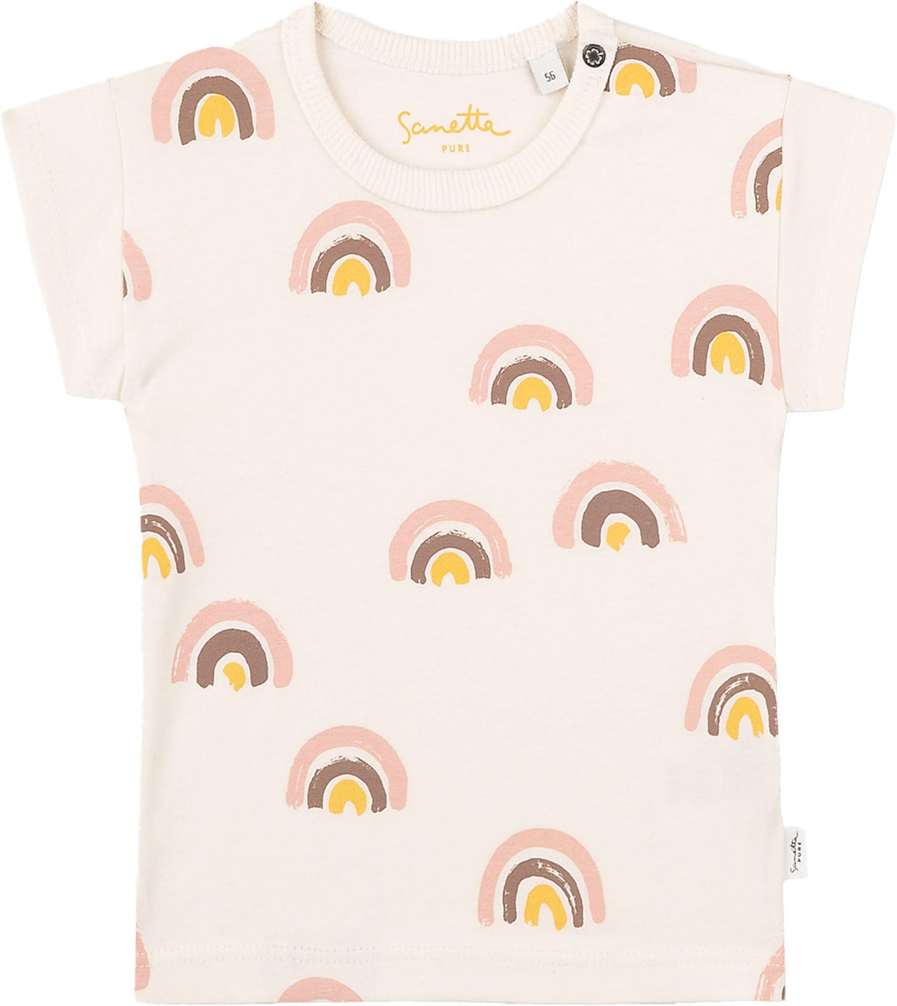Sanetta Pure Marškinėliai vilnos balta / rožių spalva / aukso geltonumo spalva / ruda