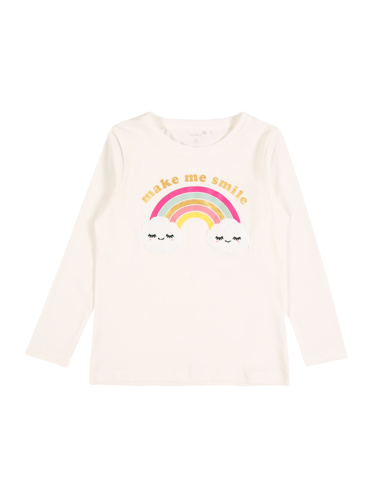 NAME IT Marškinėliai 'FOGIMMI' balkšva