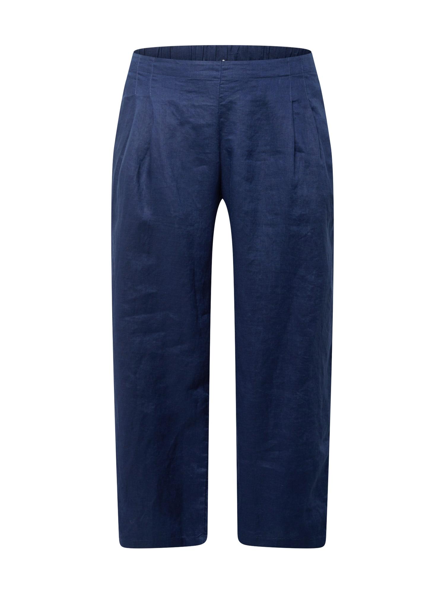 Esprit Curves Klostuotos kelnės tamsiai mėlyna