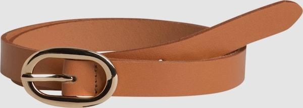 Pieces Ana Leder-Jeansgürtel mit ovaler Schnalle