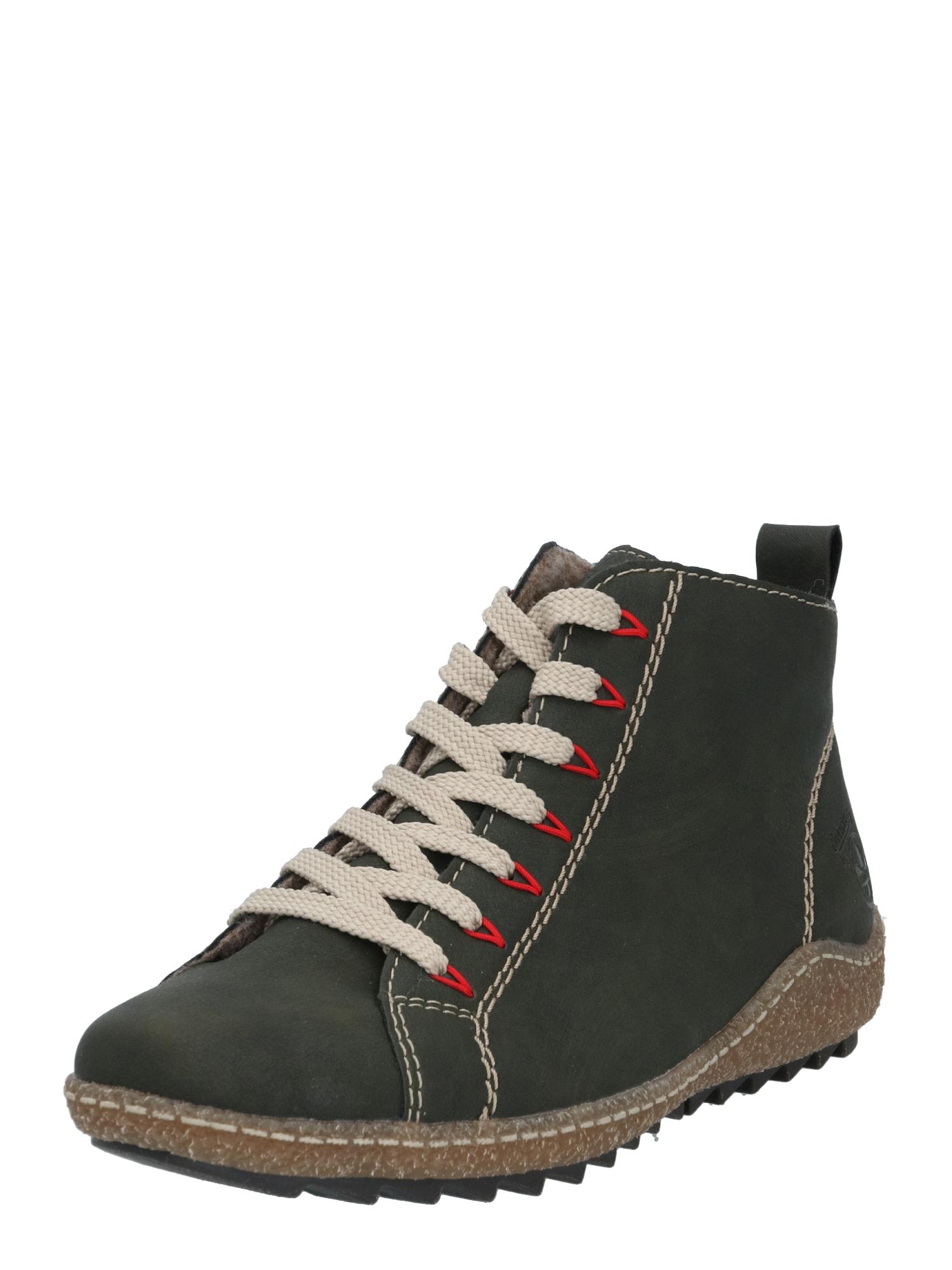 RIEKER Kulkšnis dengiantys batai tamsiai žalia