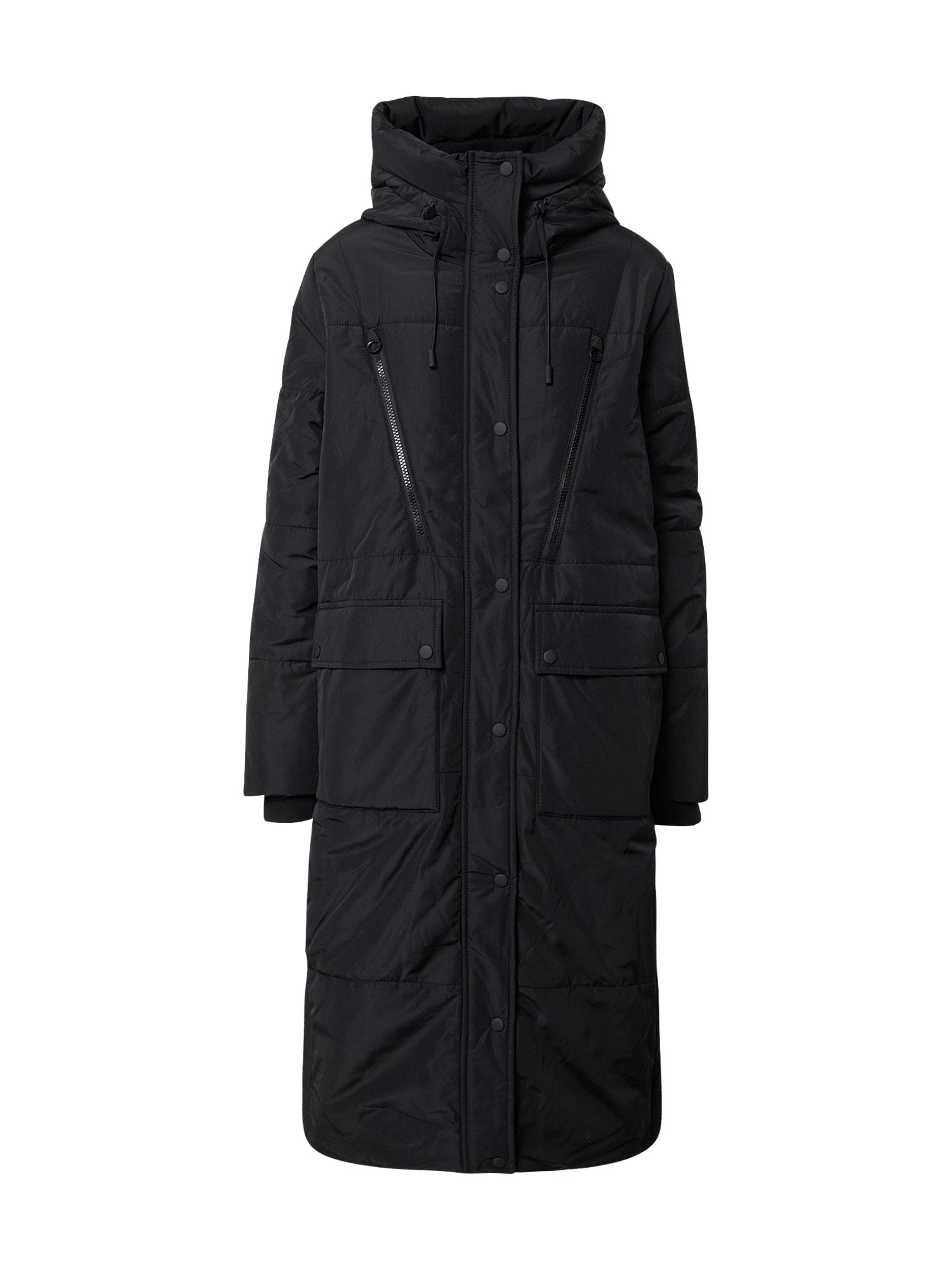 TOM TAILOR DENIM Zimní kabát  černá