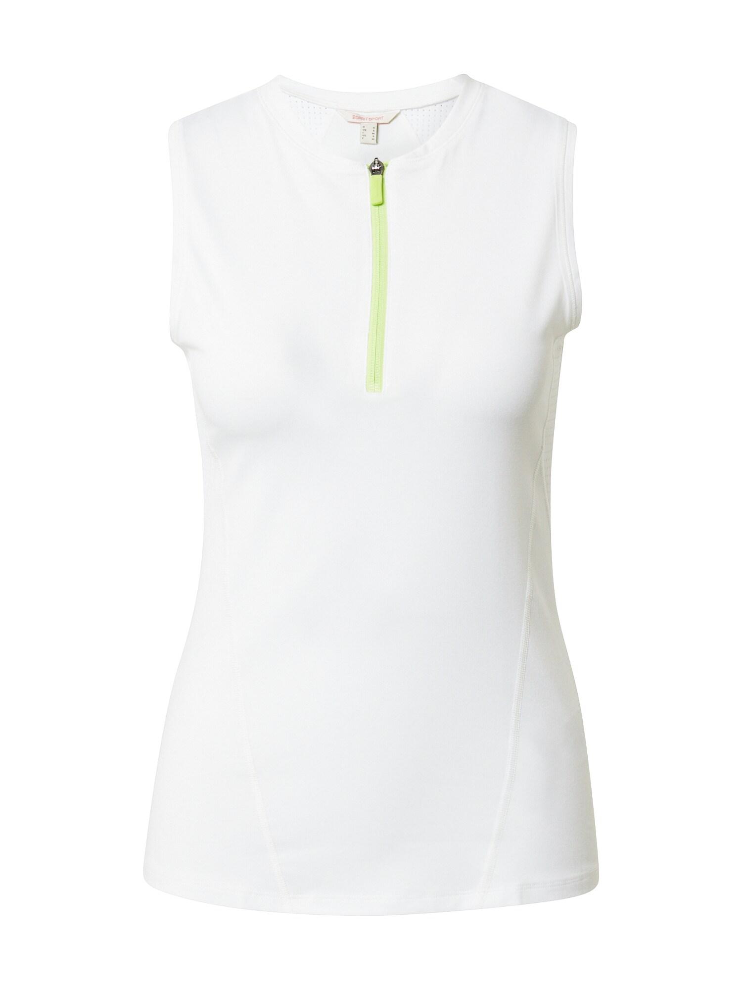 ESPRIT SPORT Sportiniai marškinėliai be rankovių obuolių spalva / balkšva