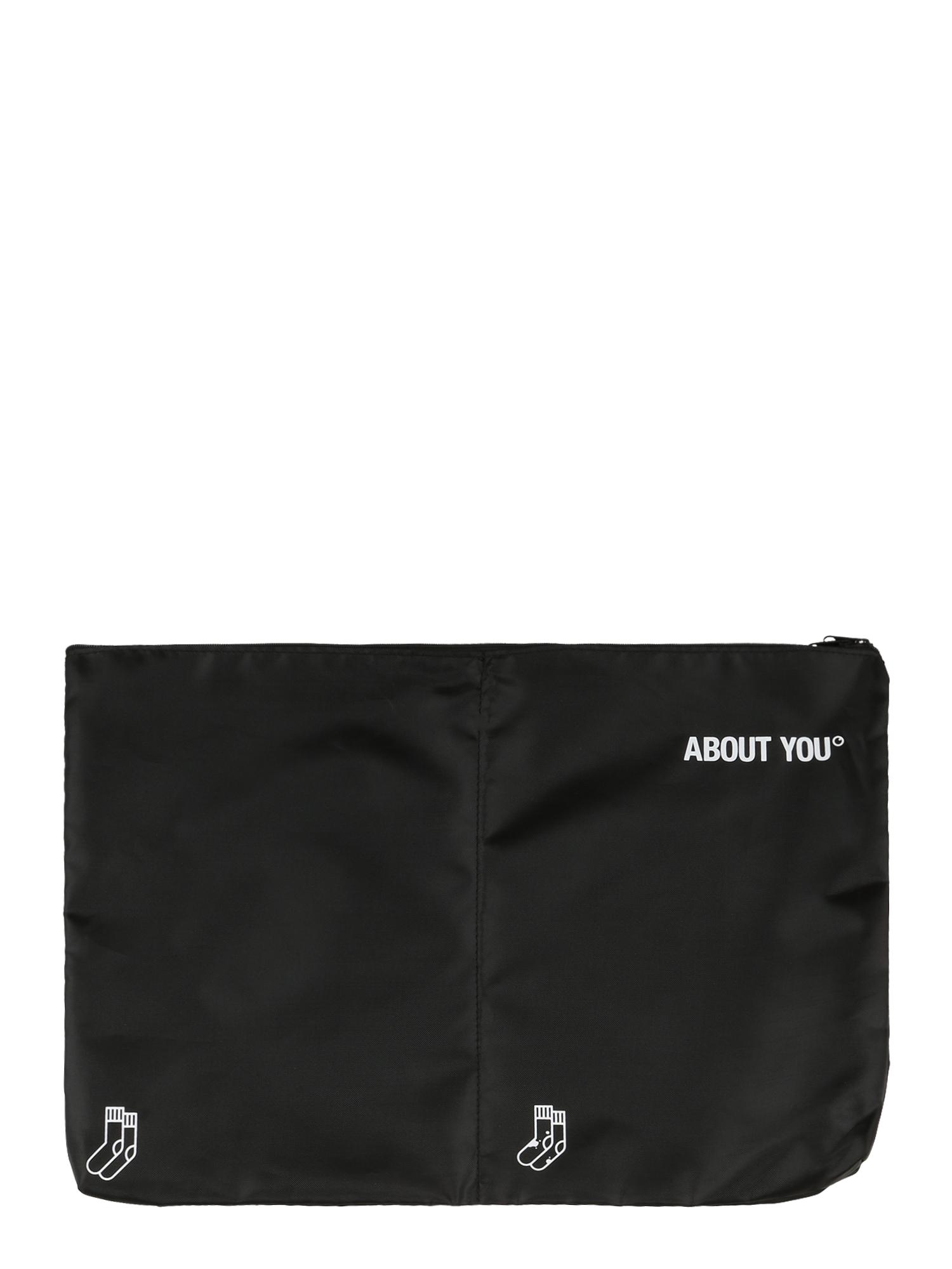 ABOUT YOU Apsauginis drabužių maišas 'Icons' juoda