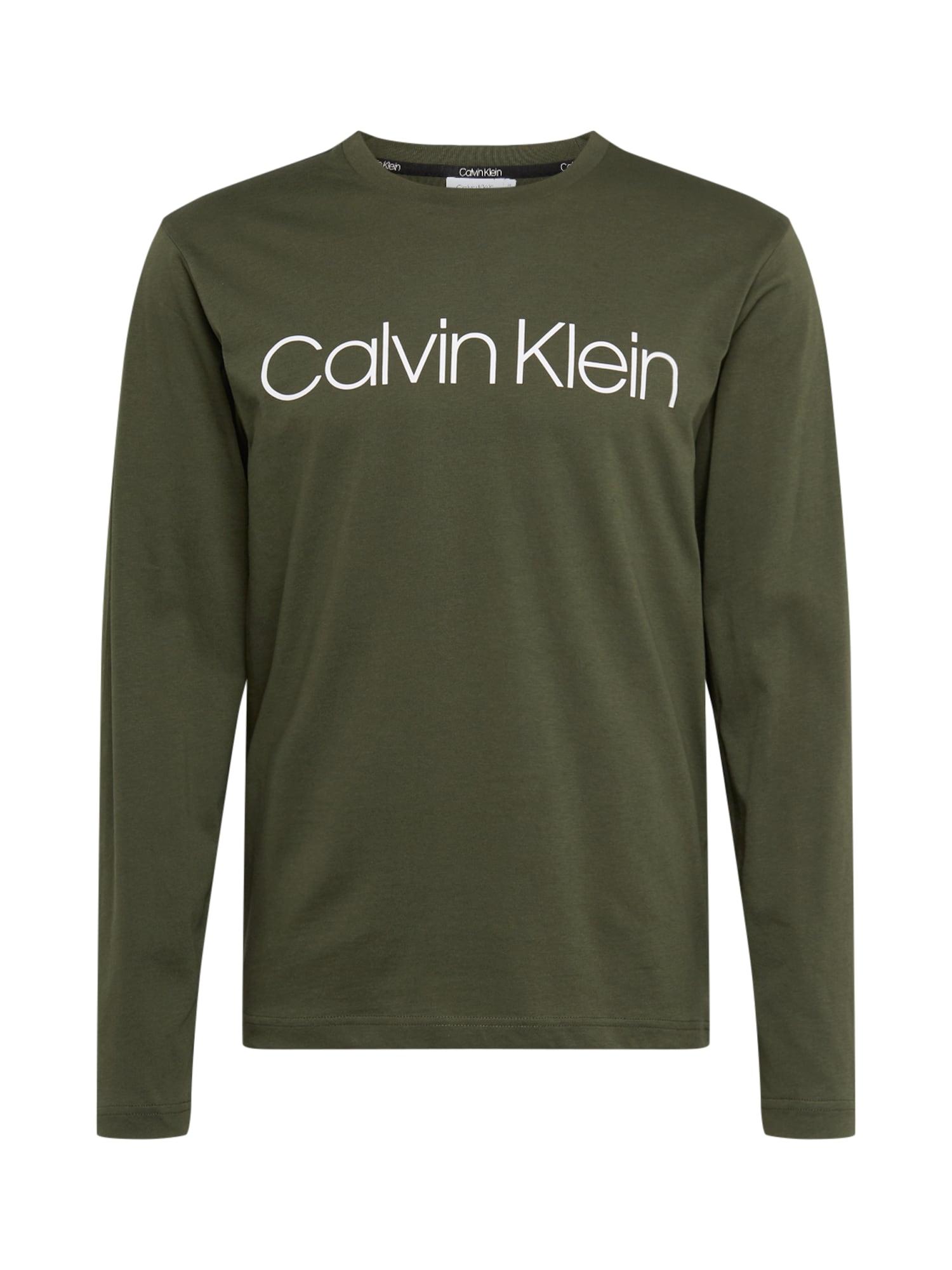 Calvin Klein Tričko  olivová / biela
