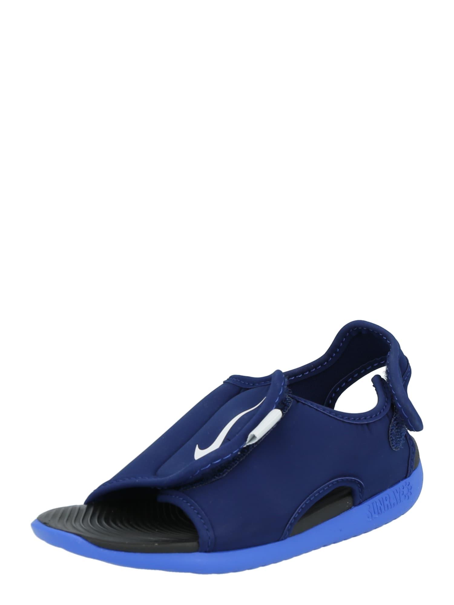 NIKE Sandalai 'Sunray Adjust 5 V2' tamsiai mėlyna / balta