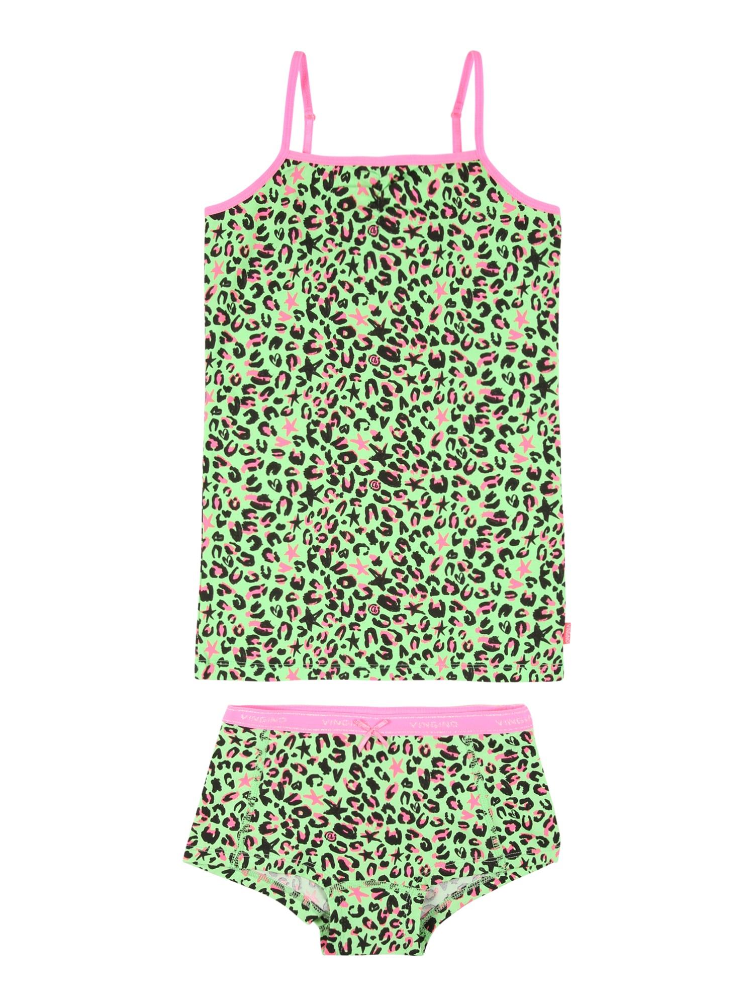 VINGINO Apatinių komplektas neoninė žalia / rožinė / juoda