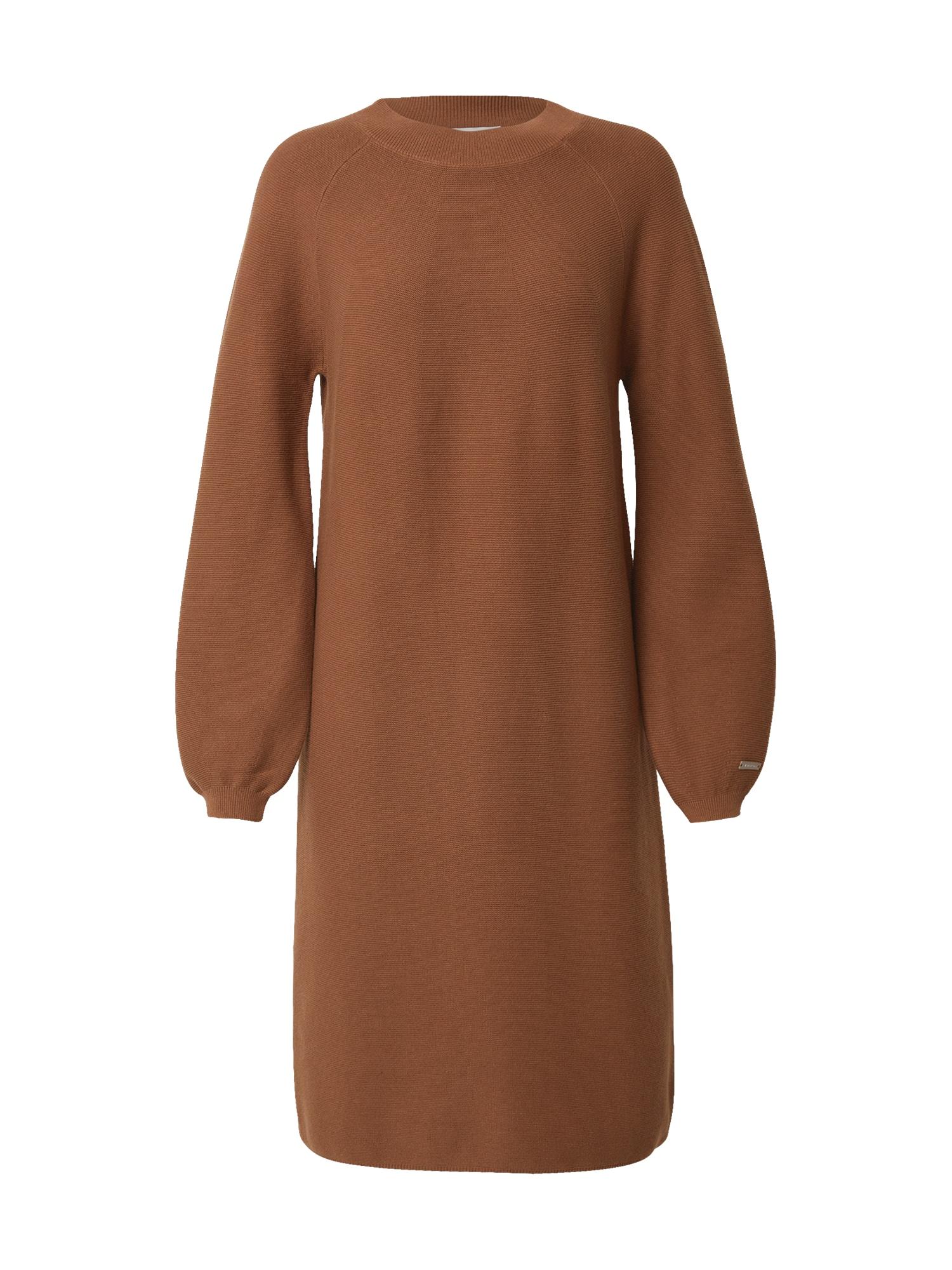STREET ONE Úpletové šaty  hnědá