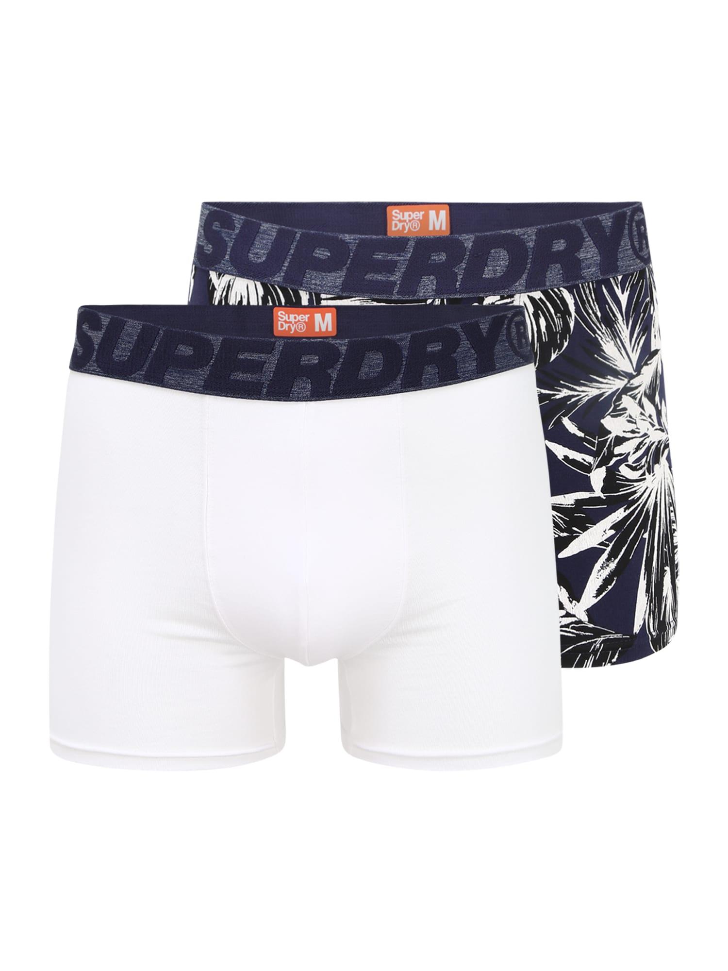 Superdry Boxer trumpikės tamsiai mėlyna / balta